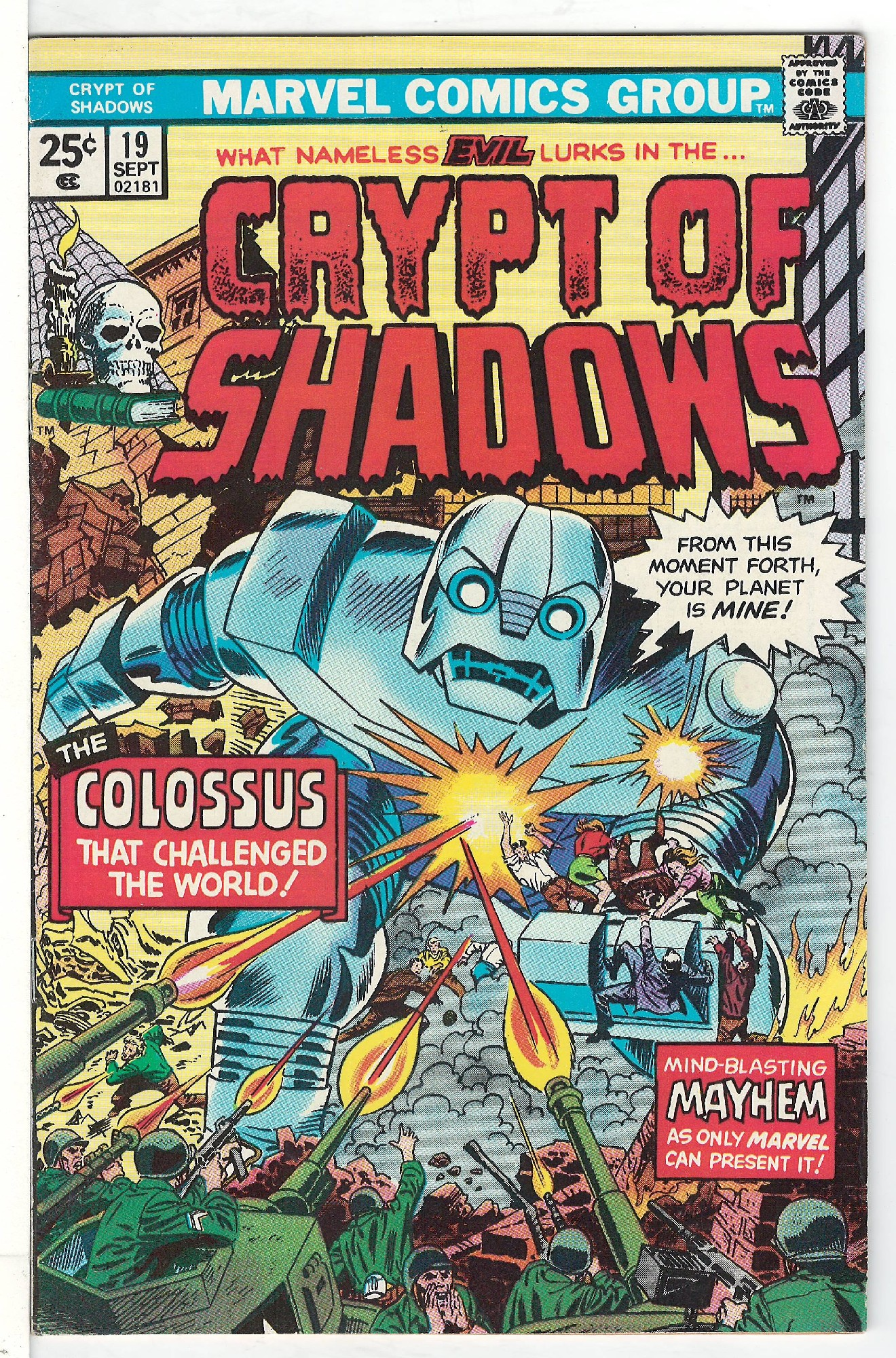 Cover of Crypt of Shadows (Vol 1) #19. One of 250,000 Vintage American Comics on sale from Krypton!
