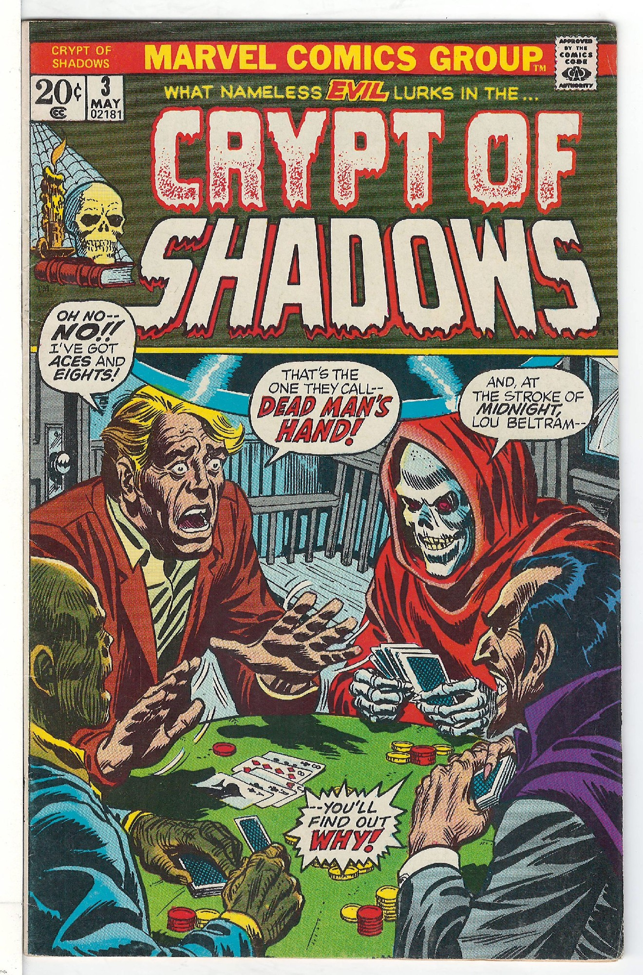Cover of Crypt of Shadows (Vol 1) #3. One of 250,000 Vintage American Comics on sale from Krypton!