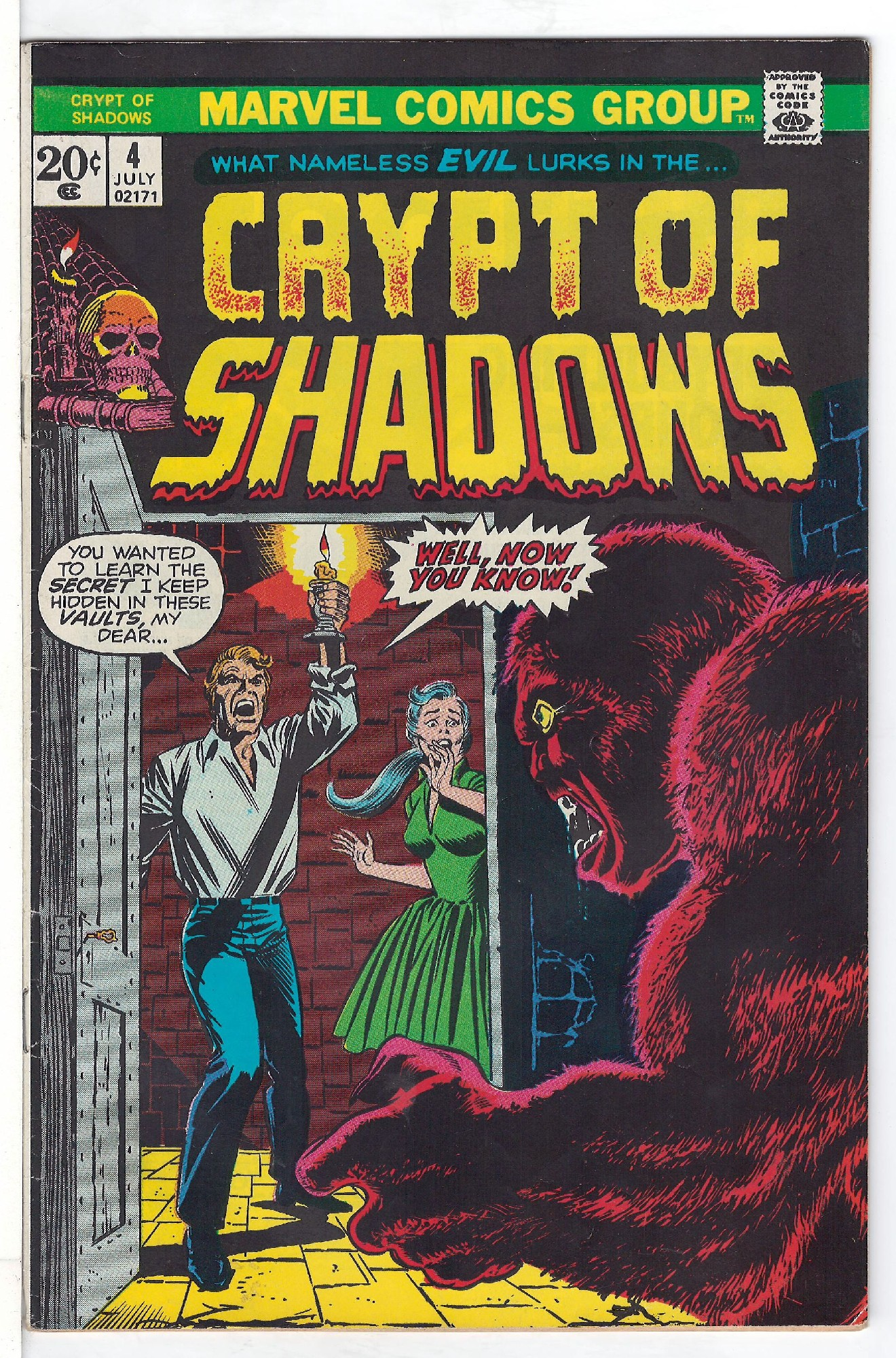 Cover of Crypt of Shadows (Vol 1) #4. One of 250,000 Vintage American Comics on sale from Krypton!