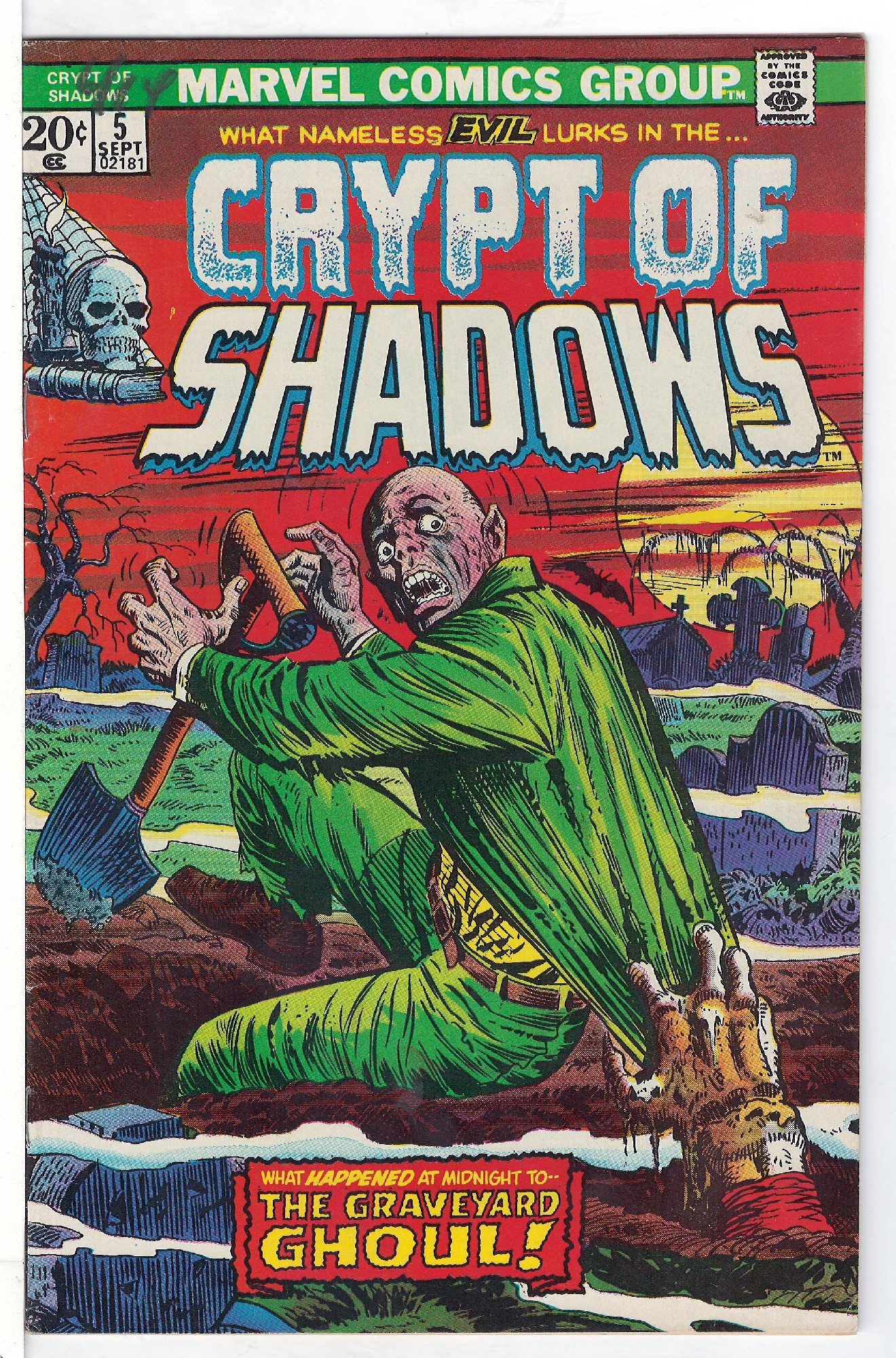 Cover of Crypt of Shadows (Vol 1) #5. One of 250,000 Vintage American Comics on sale from Krypton!