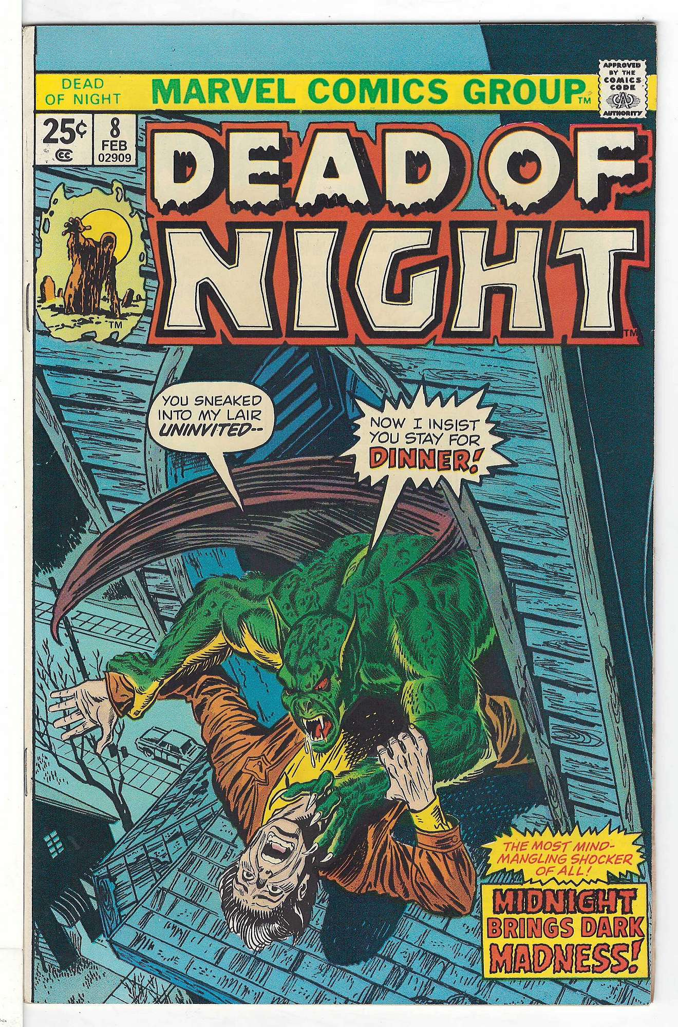 Cover of Dead of Night (Vol 1) #8. One of 250,000 Vintage American Comics on sale from Krypton!