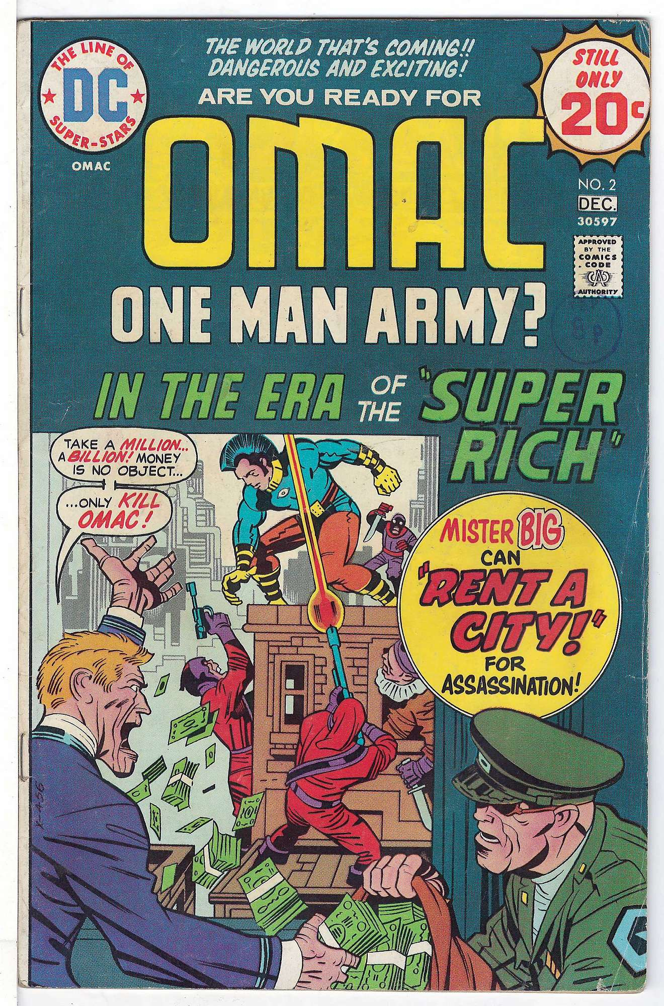Cover of Omac (Vol 1) One Man Army Corps #2. One of 250,000 Vintage American Comics on sale from Krypton!
