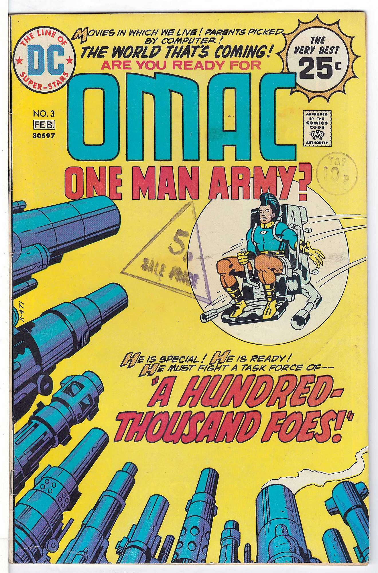 Cover of Omac (Vol 1) One Man Army Corps #3. One of 250,000 Vintage American Comics on sale from Krypton!