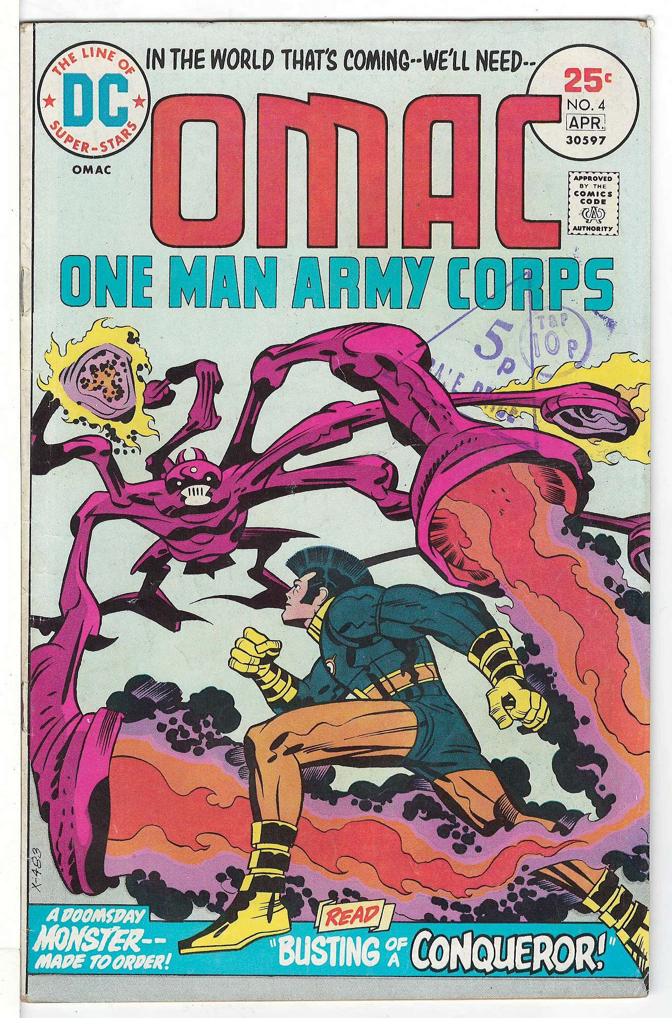 Cover of Omac (Vol 1) One Man Army Corps #4. One of 250,000 Vintage American Comics on sale from Krypton!
