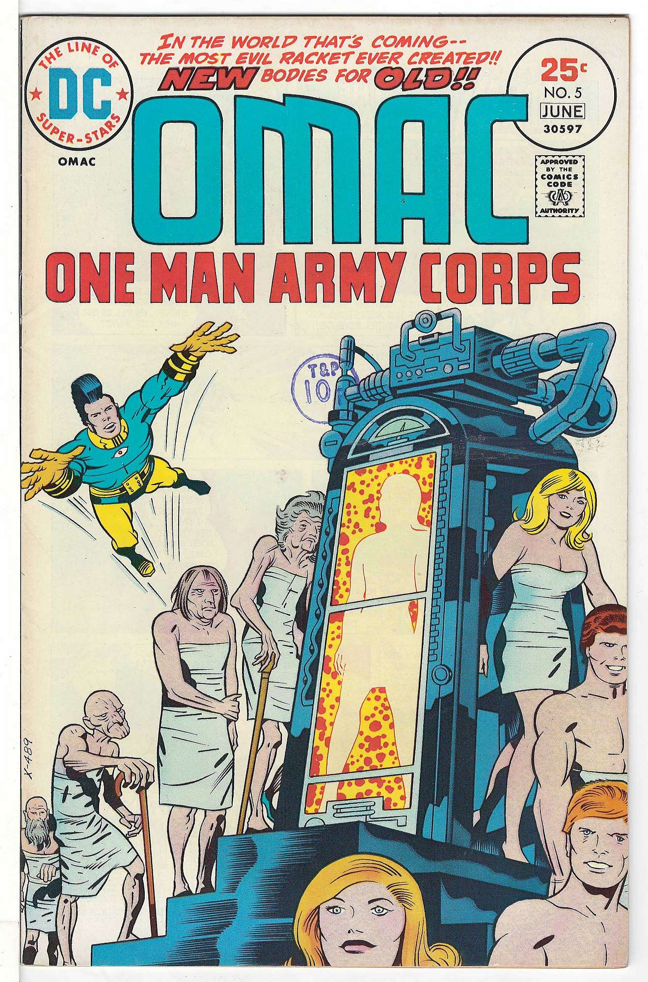 Cover of Omac (Vol 1) One Man Army Corps #5. One of 250,000 Vintage American Comics on sale from Krypton!
