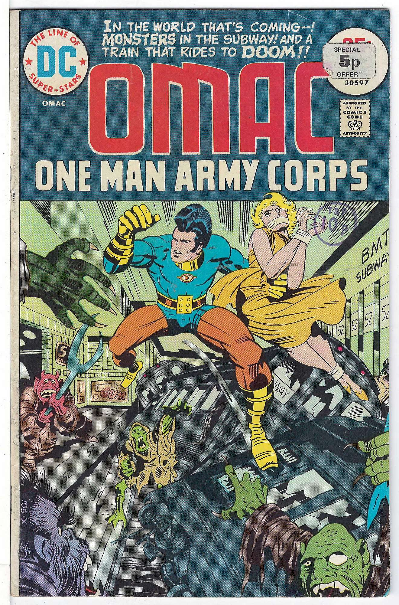 Cover of Omac (Vol 1) One Man Army Corps #6. One of 250,000 Vintage American Comics on sale from Krypton!