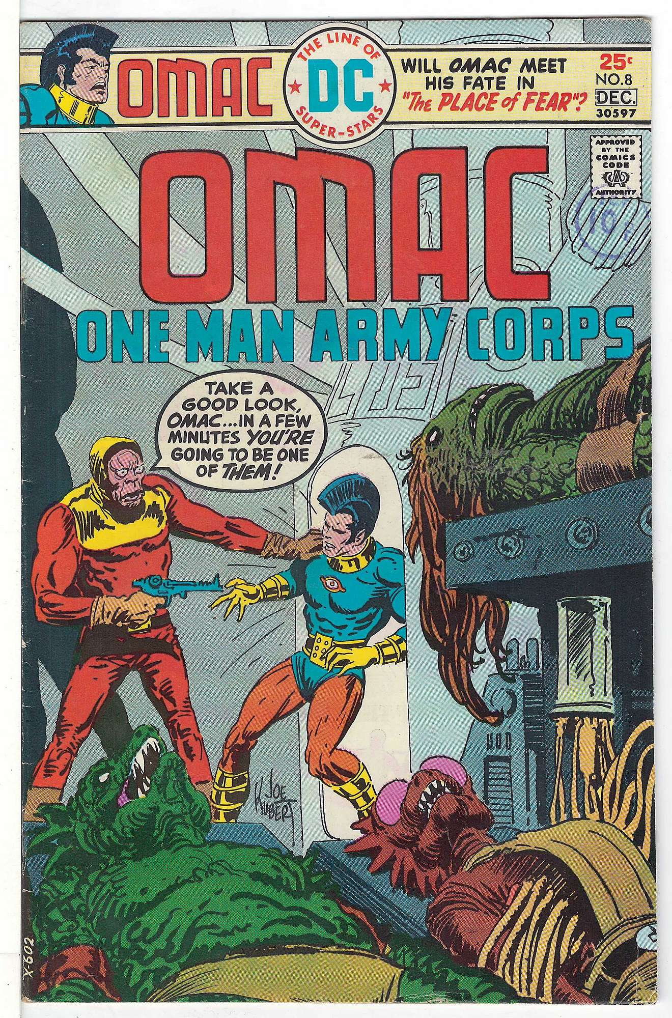Cover of Omac (Vol 1) One Man Army Corps #8. One of 250,000 Vintage American Comics on sale from Krypton!