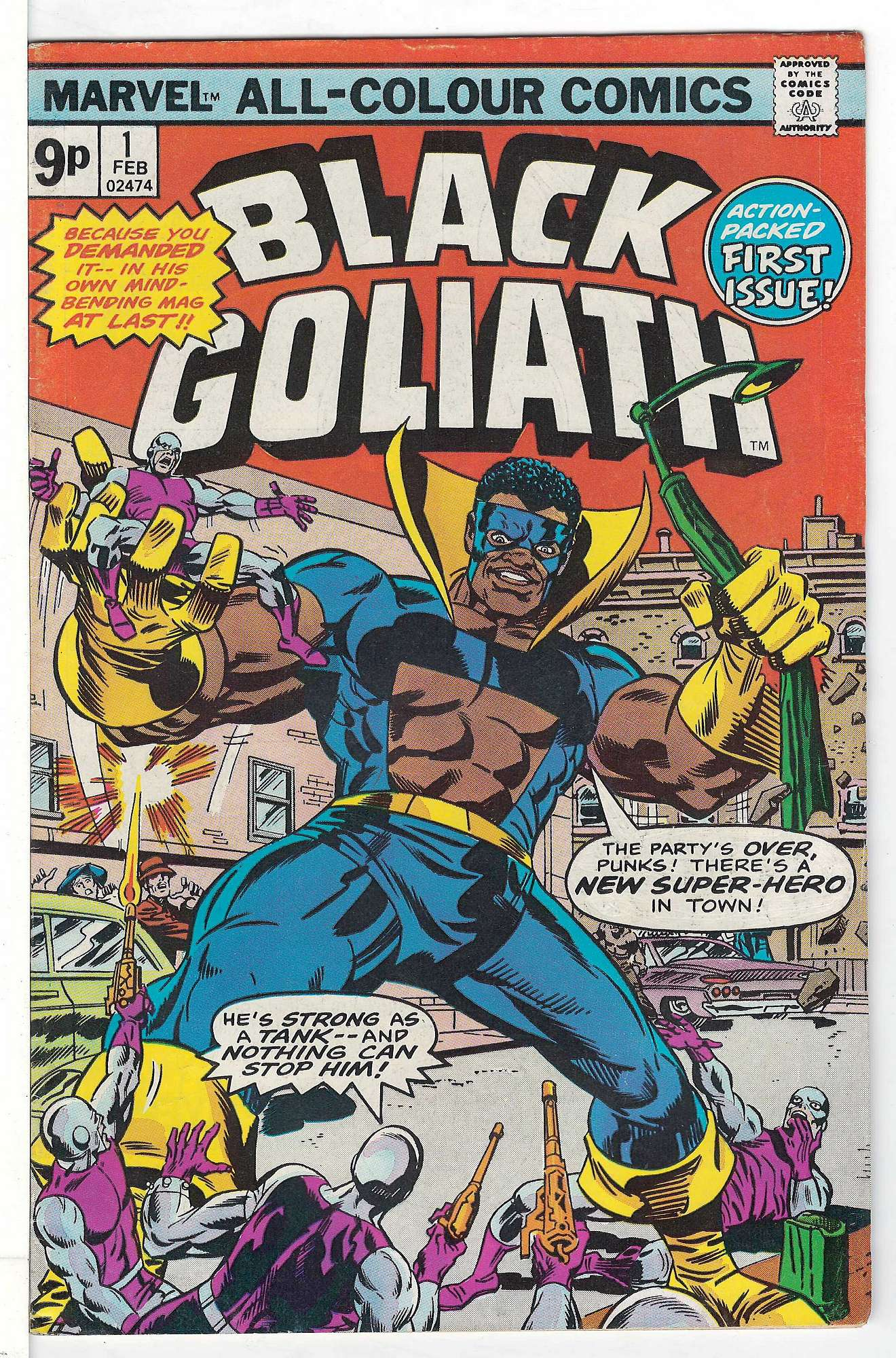 Cover of Black Goliath (Vol 1) #1. One of 250,000 Vintage American Comics on sale from Krypton!