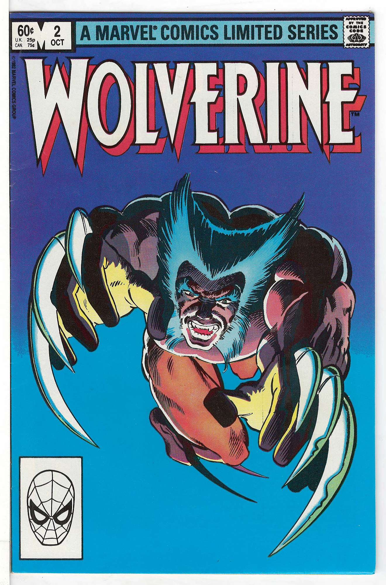 Cover of Wolverine (1982 Ltd) #2. One of 250,000 Vintage American Comics on sale from Krypton!