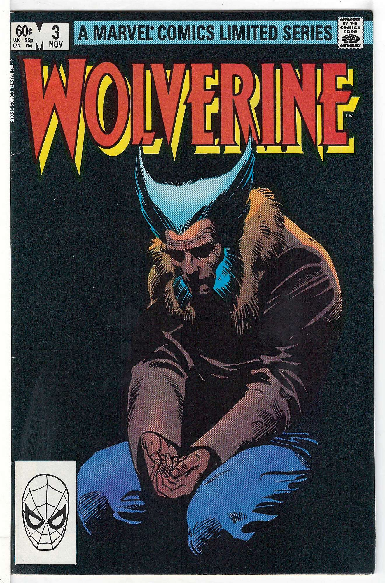 Cover of Wolverine (1982 Ltd) #3. One of 250,000 Vintage American Comics on sale from Krypton!