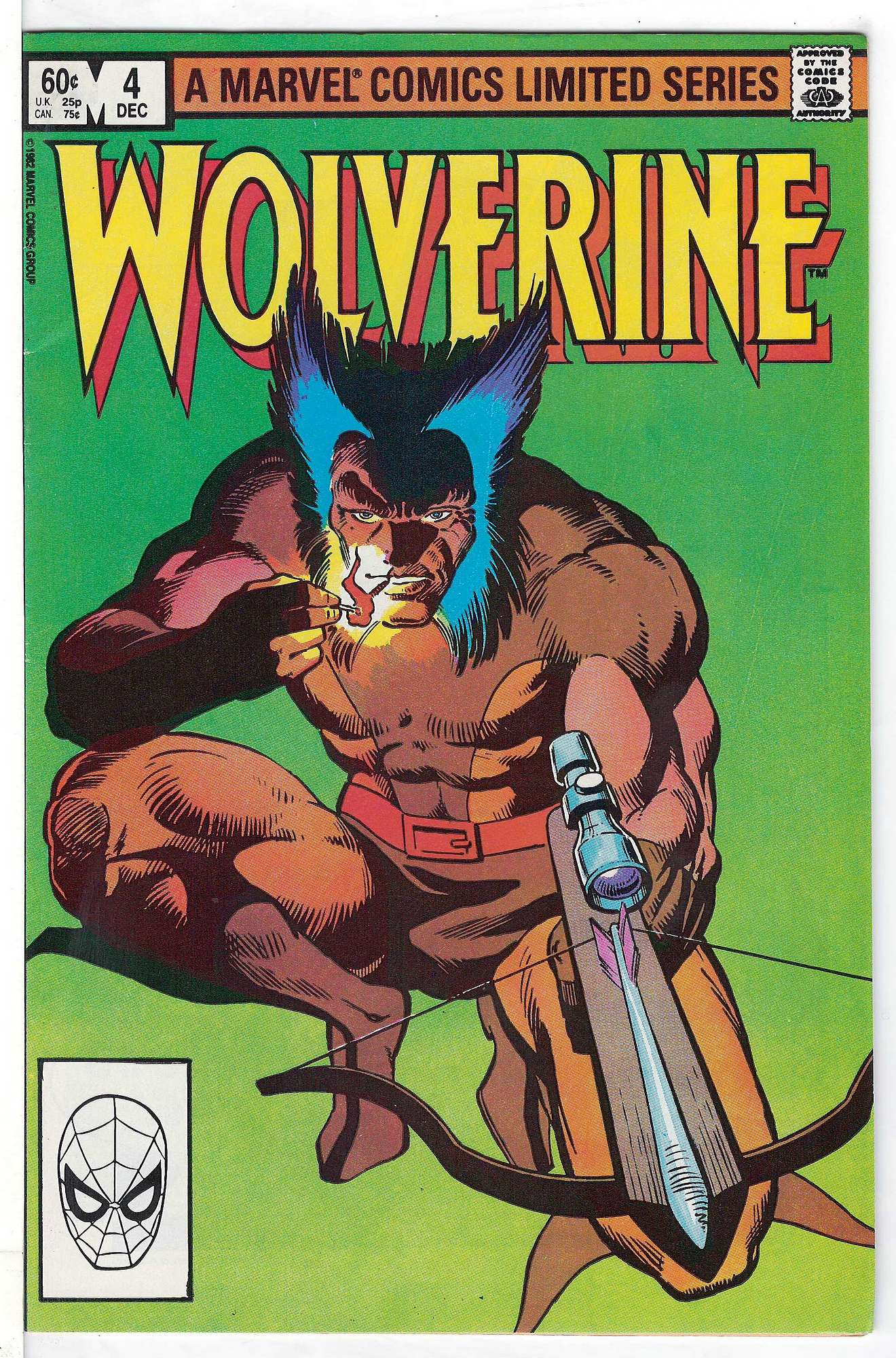 Cover of Wolverine (1982 Ltd) #4. One of 250,000 Vintage American Comics on sale from Krypton!