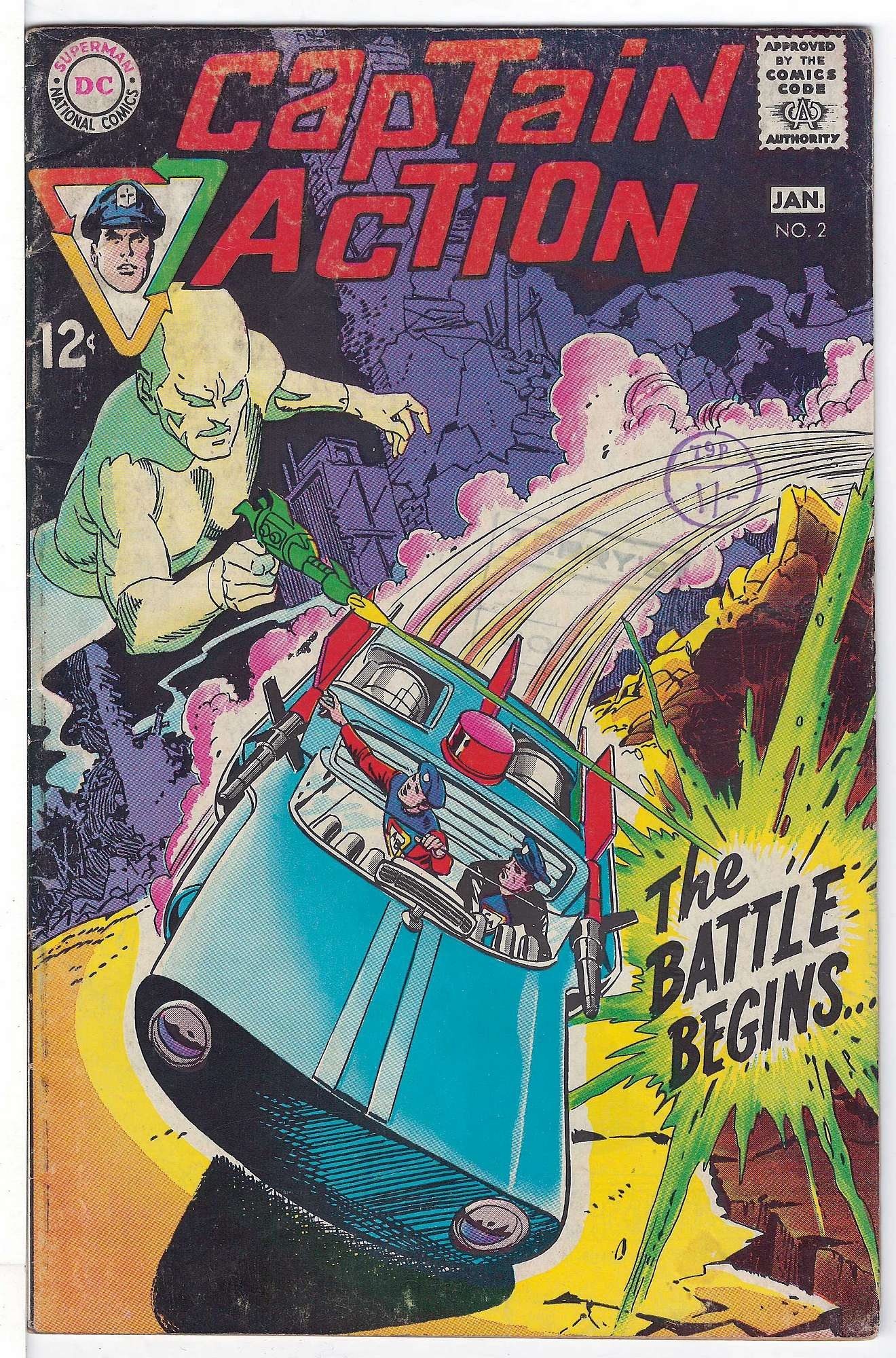 Cover of Captain Action #2. One of 250,000 Vintage American Comics on sale from Krypton!