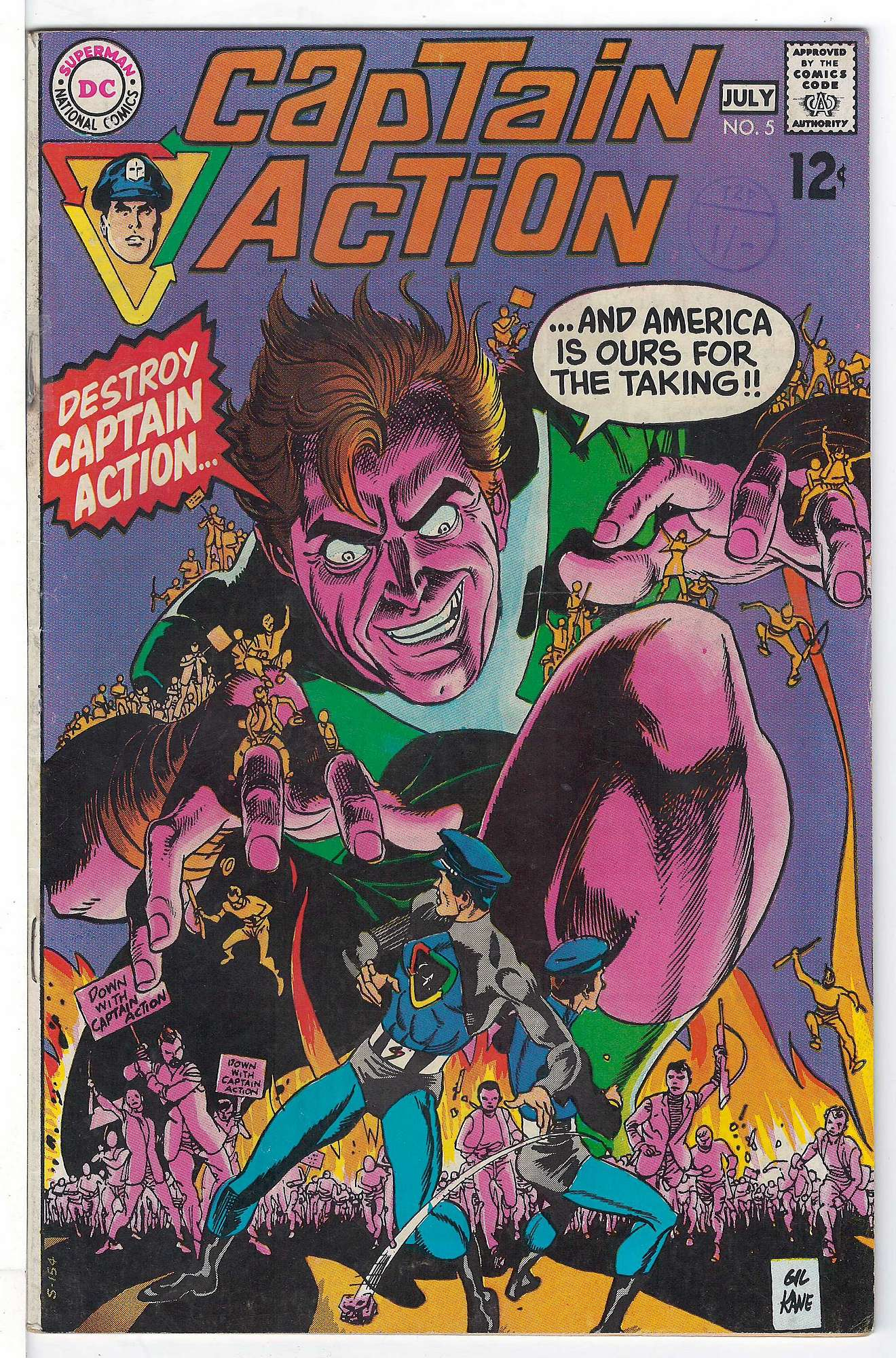 Cover of Captain Action #5. One of 250,000 Vintage American Comics on sale from Krypton!