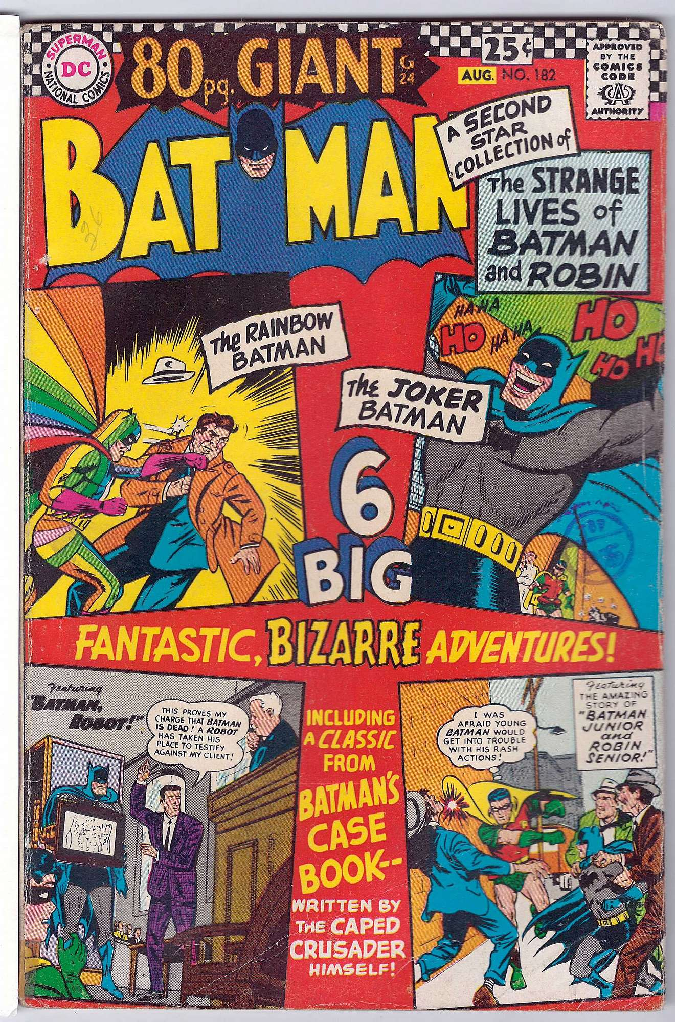 Cover of Batman #182. One of 250,000 Vintage American Comics on sale from Krypton!
