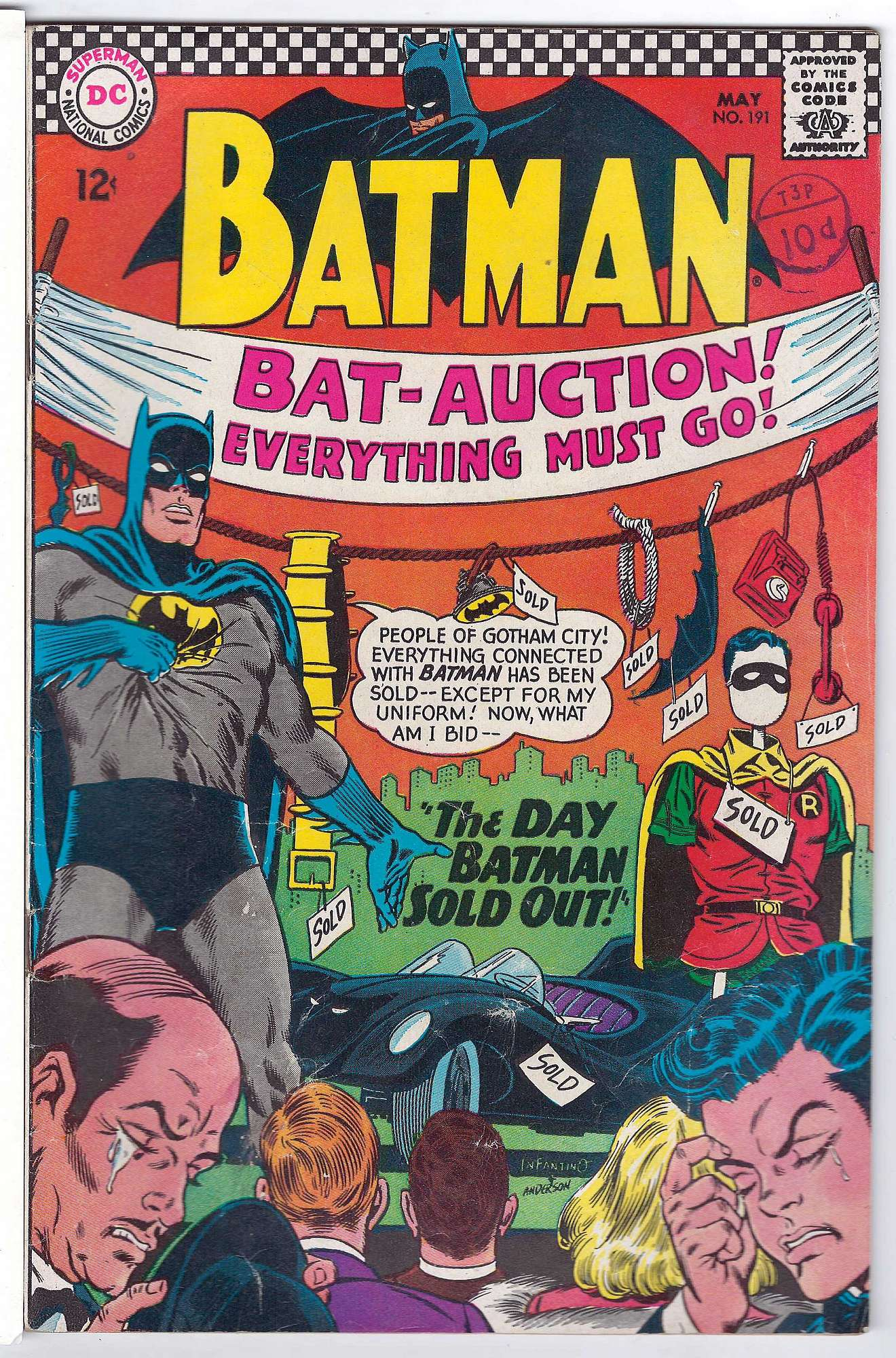 Cover of Batman #191. One of 250,000 Vintage American Comics on sale from Krypton!