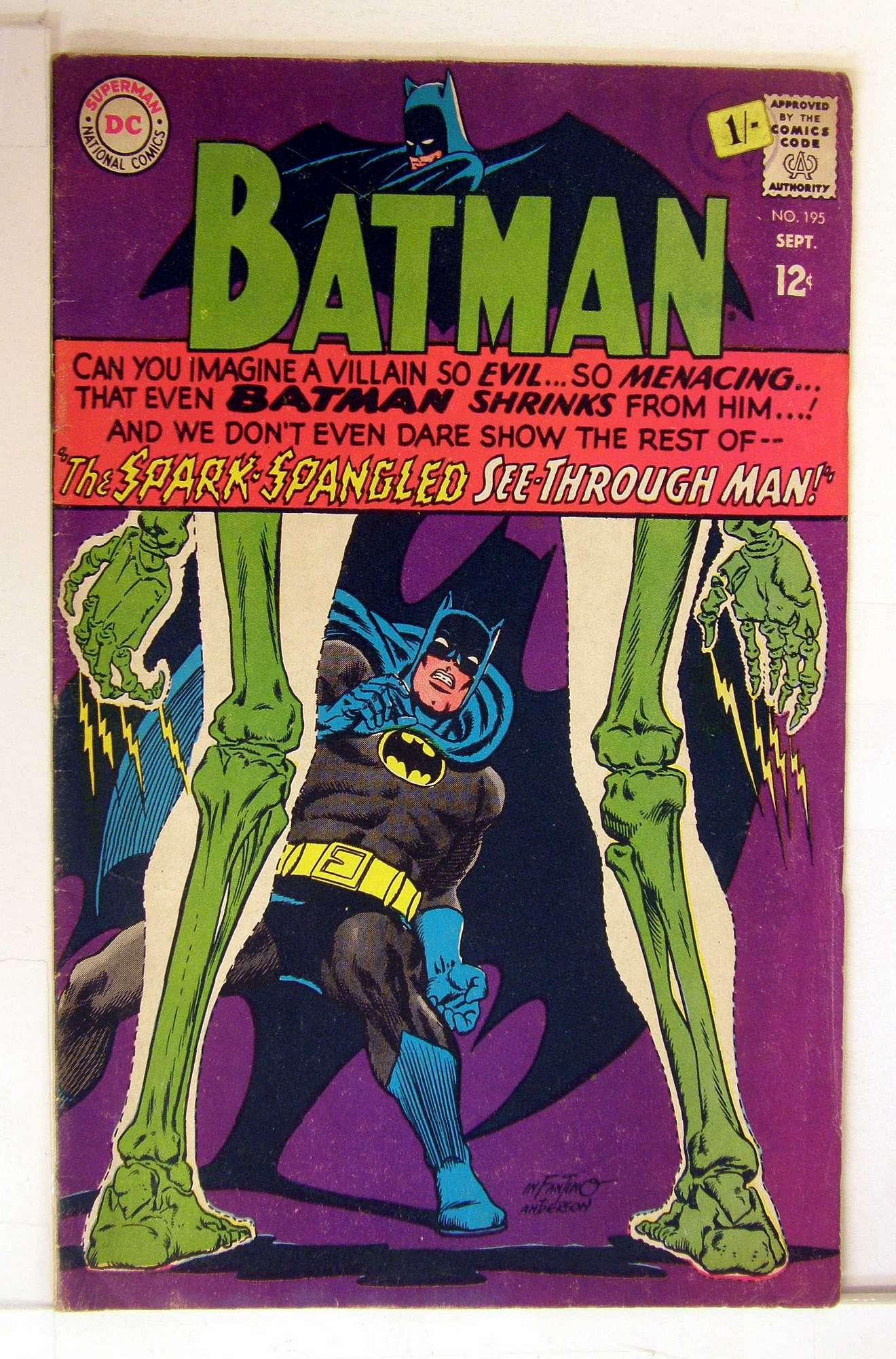Cover of Batman #195. One of 250,000 Vintage American Comics on sale from Krypton!