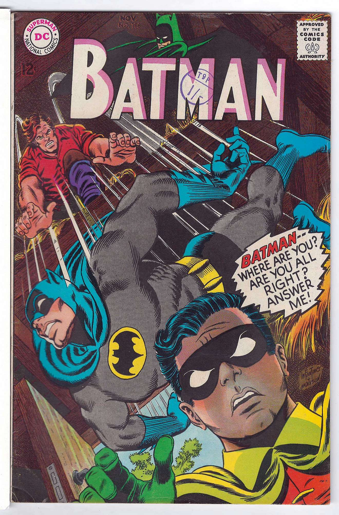 Cover of Batman #196. One of 250,000 Vintage American Comics on sale from Krypton!
