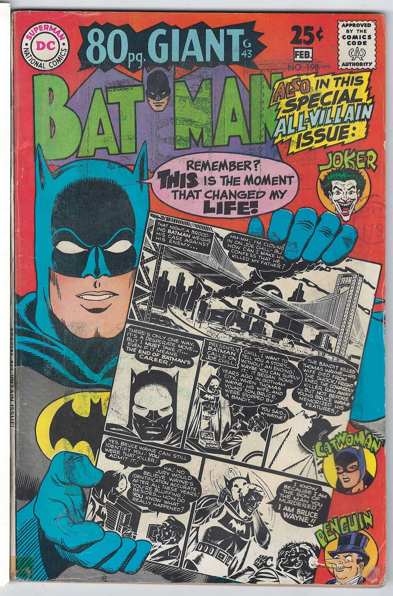 Cover of Batman #198. One of 250,000 Vintage American Comics on sale from Krypton!