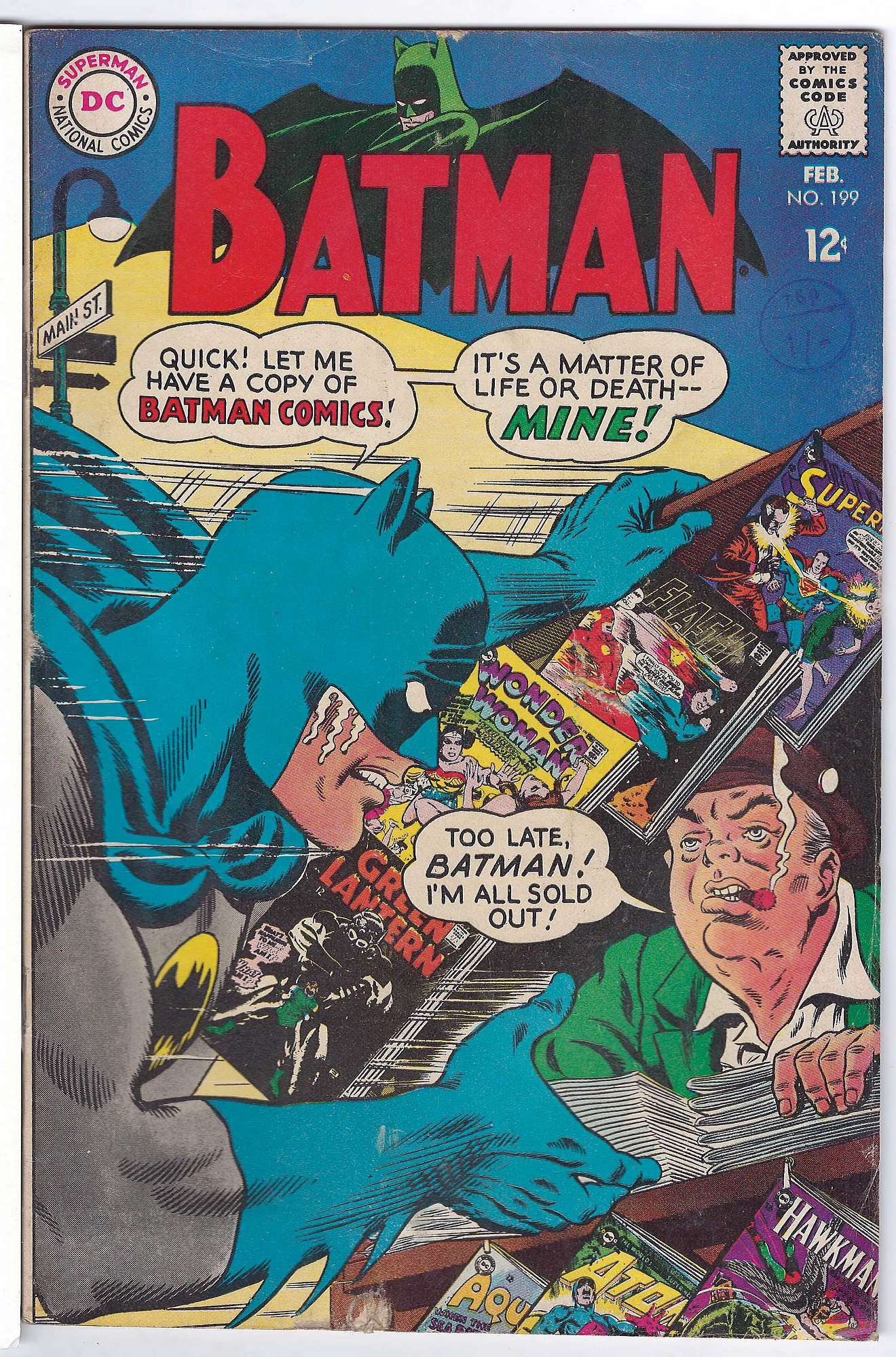 Cover of Batman #199. One of 250,000 Vintage American Comics on sale from Krypton!