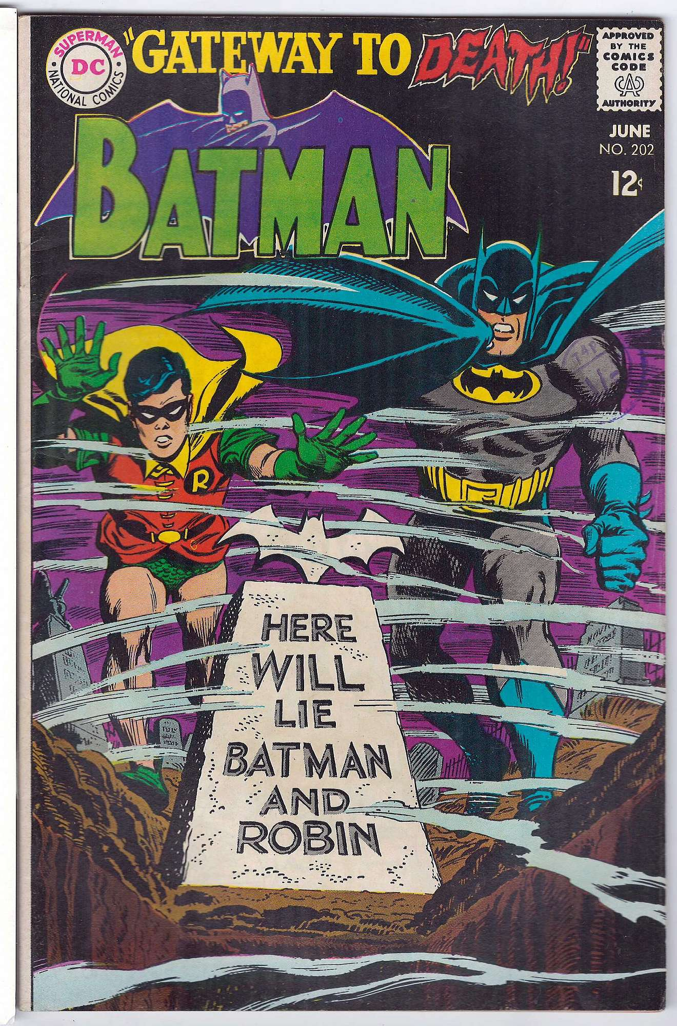 Cover of Batman #202. One of 250,000 Vintage American Comics on sale from Krypton!