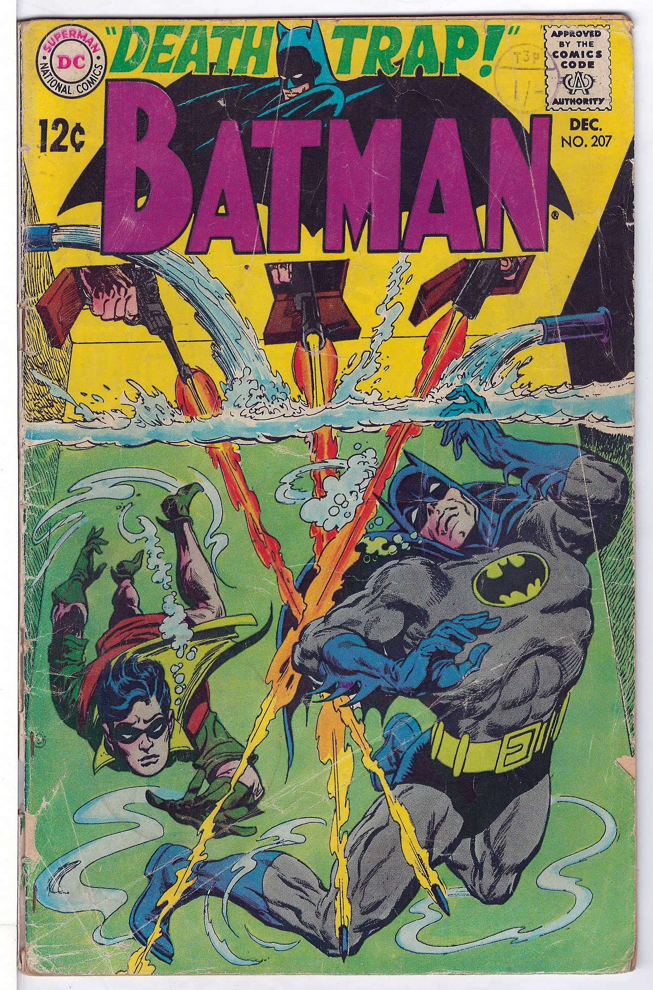 Cover of Batman #207. One of 250,000 Vintage American Comics on sale from Krypton!