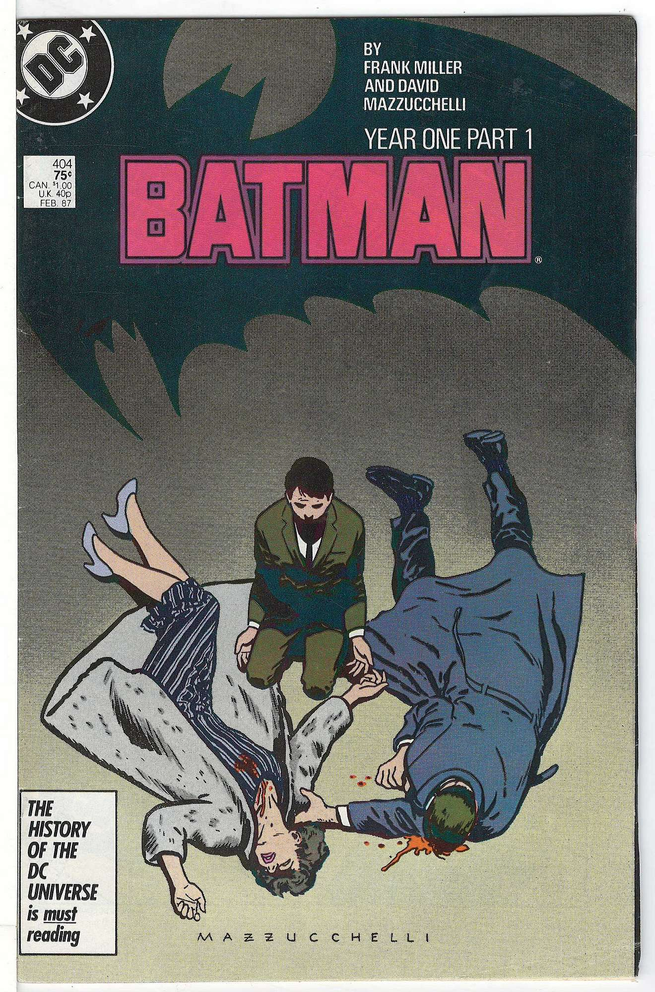 Cover of Batman #404. One of 250,000 Vintage American Comics on sale from Krypton!