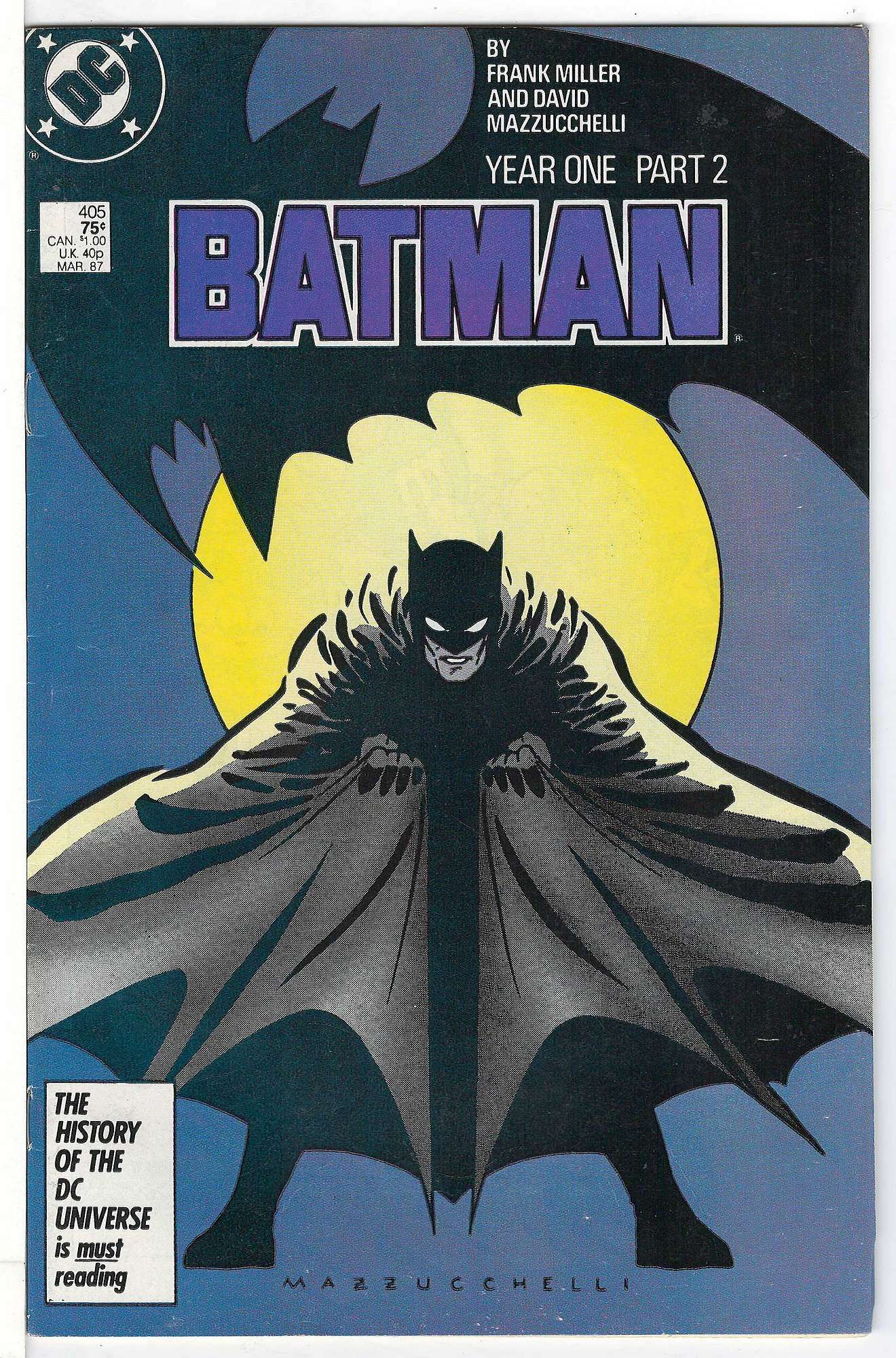 Cover of Batman #405. One of 250,000 Vintage American Comics on sale from Krypton!