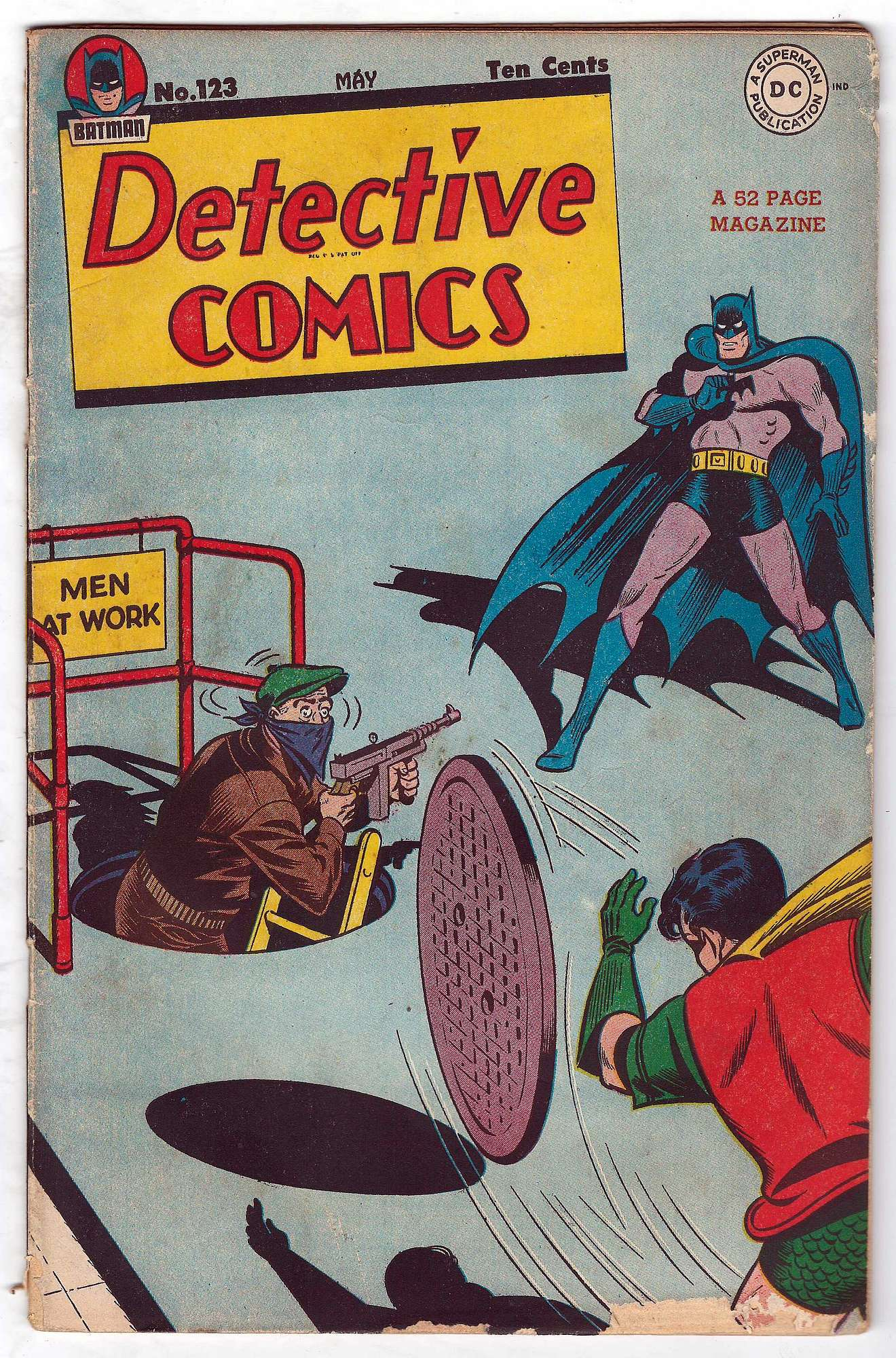 Cover of Detective Comics #123. One of 250,000 Vintage American Comics on sale from Krypton!