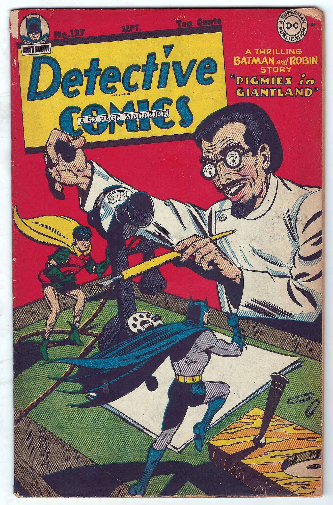 Cover of Detective Comics #127. One of 250,000 Vintage American Comics on sale from Krypton!