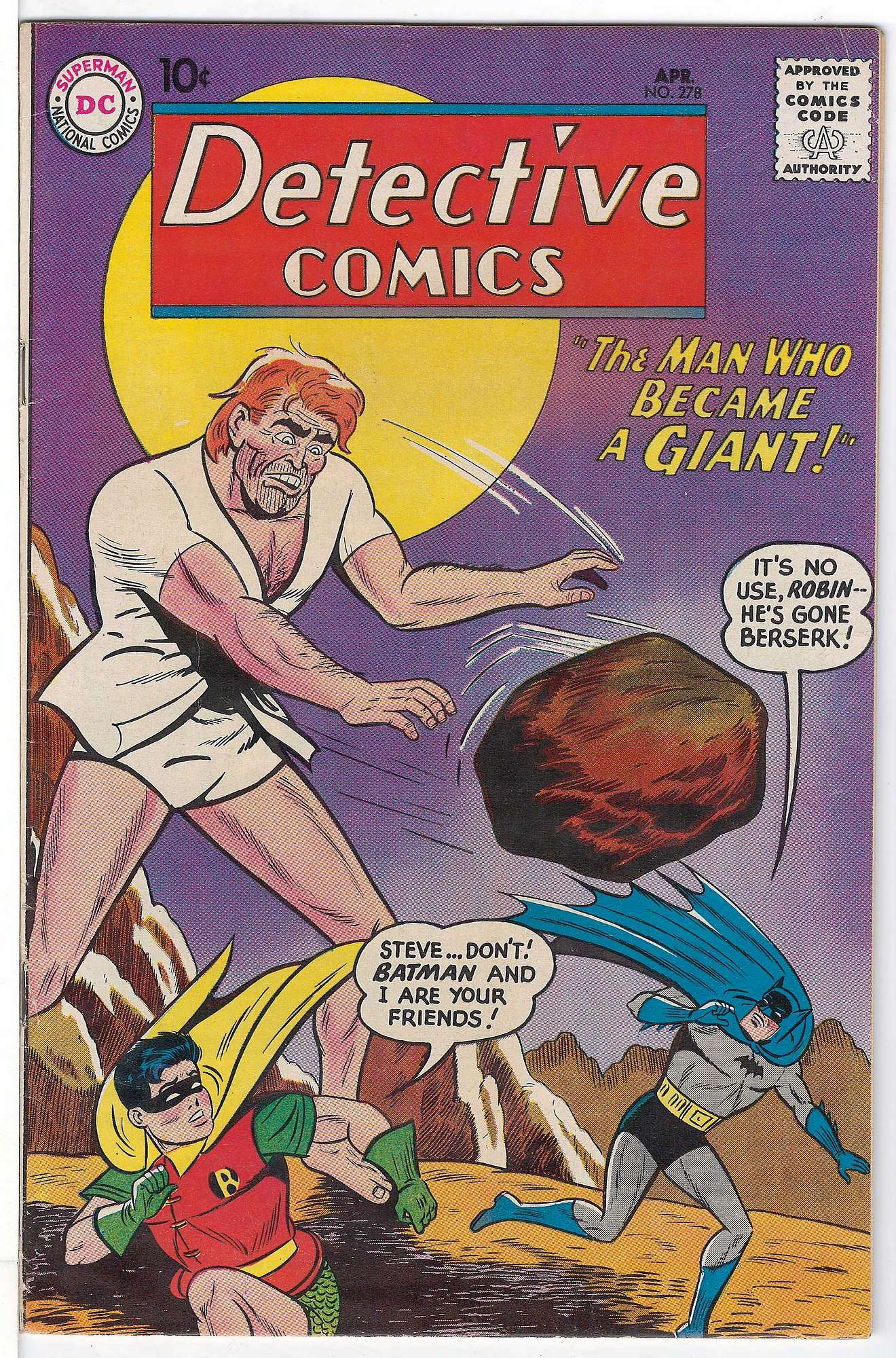 Cover of Detective Comics #278. One of 250,000 Vintage American Comics on sale from Krypton!