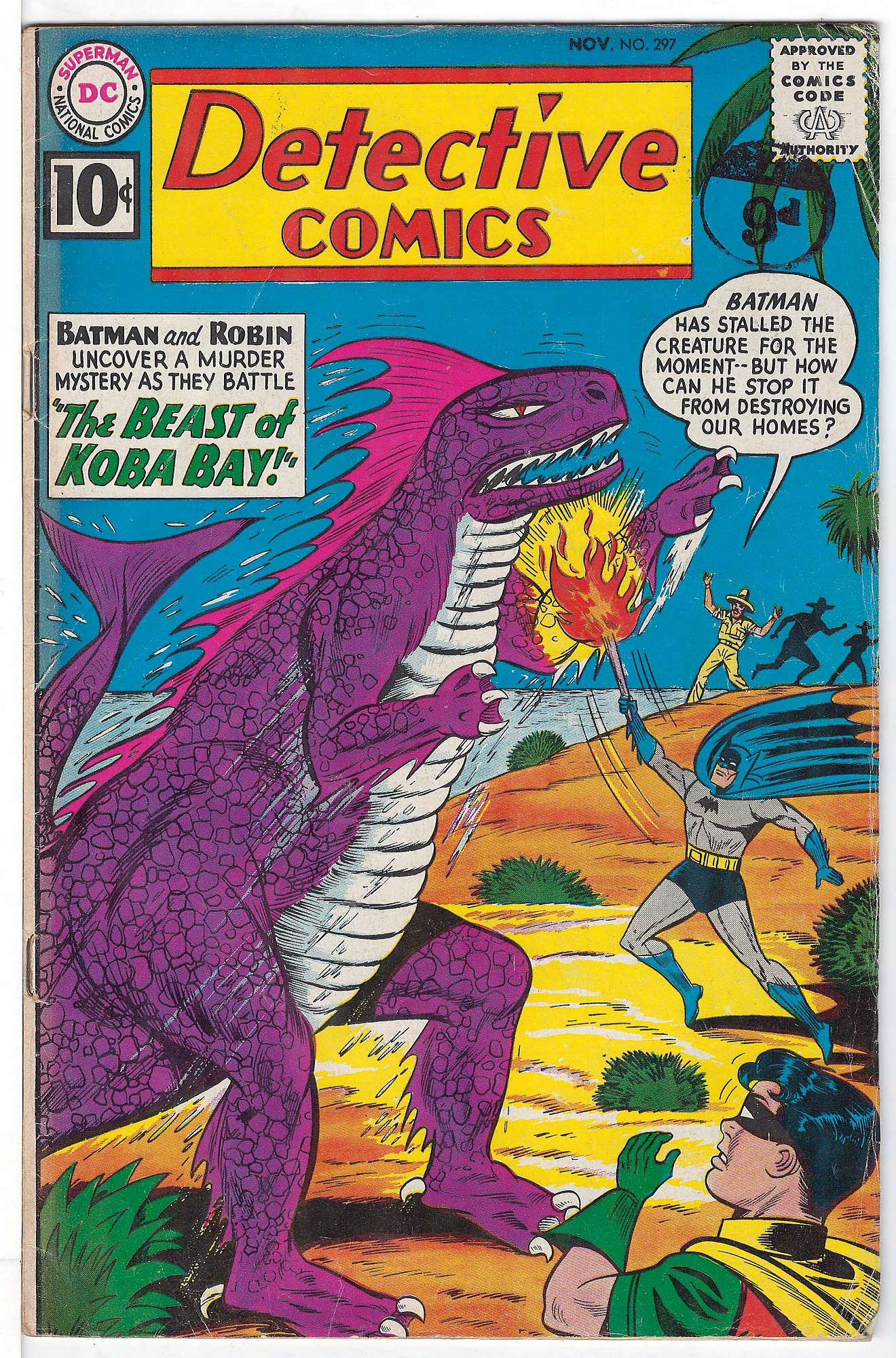 Cover of Detective Comics #297. One of 250,000 Vintage American Comics on sale from Krypton!