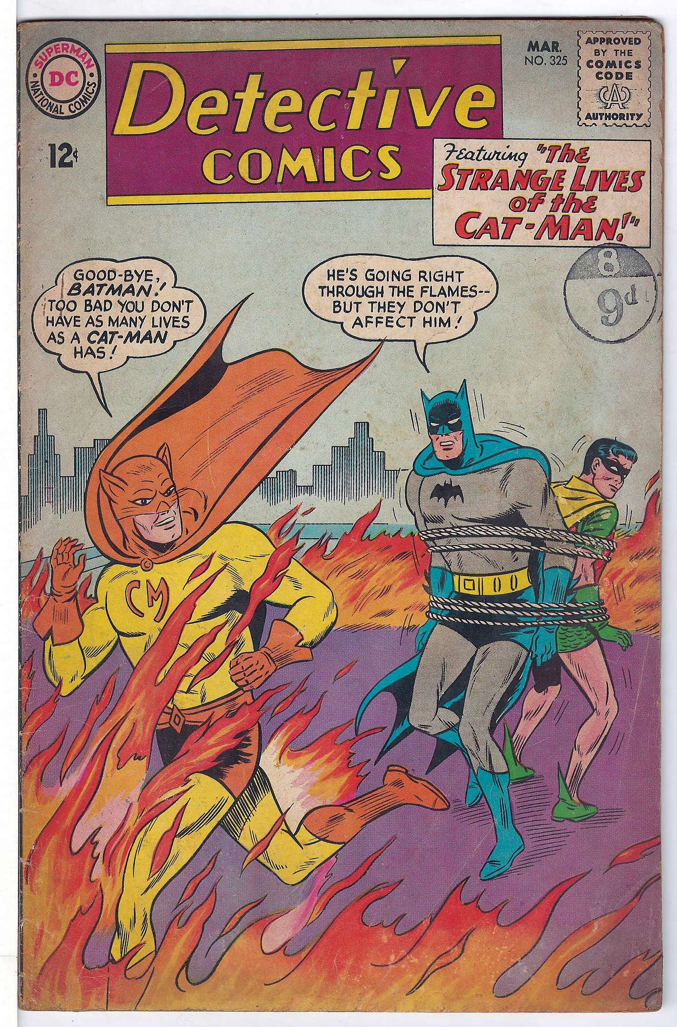 Cover of Detective Comics #325. One of 250,000 Vintage American Comics on sale from Krypton!