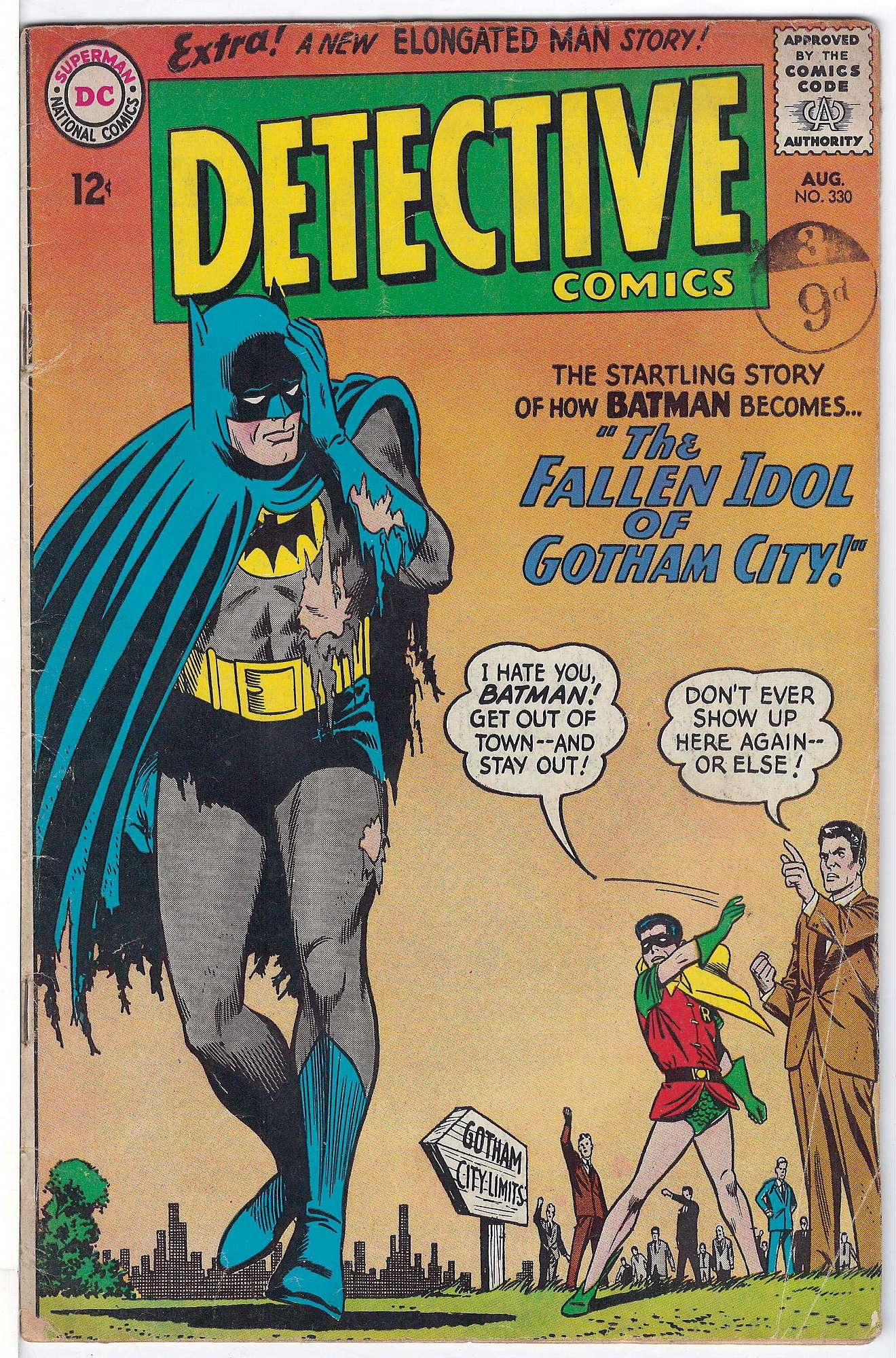 Cover of Detective Comics #330. One of 250,000 Vintage American Comics on sale from Krypton!