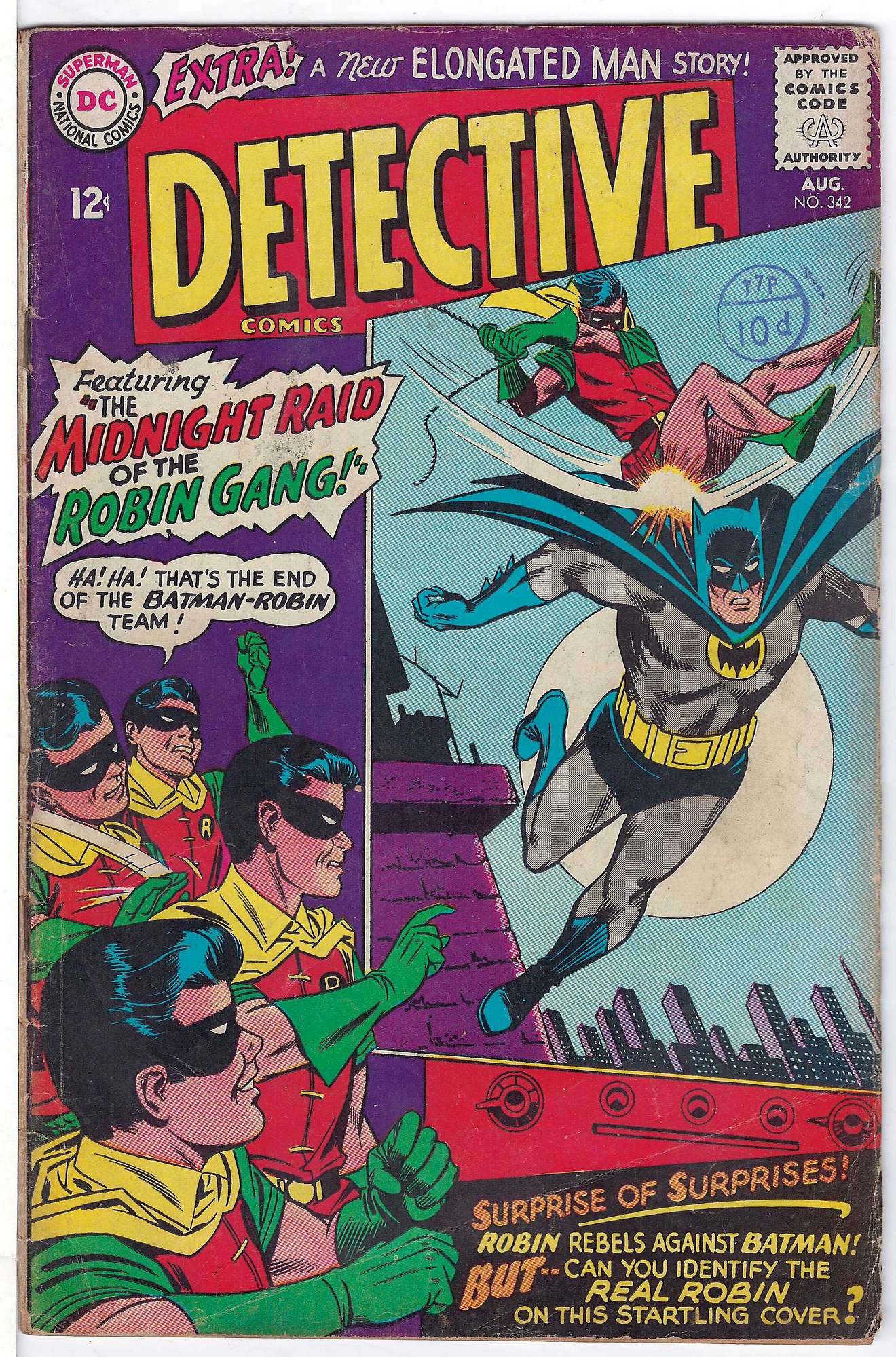 Cover of Detective Comics #342. One of 250,000 Vintage American Comics on sale from Krypton!
