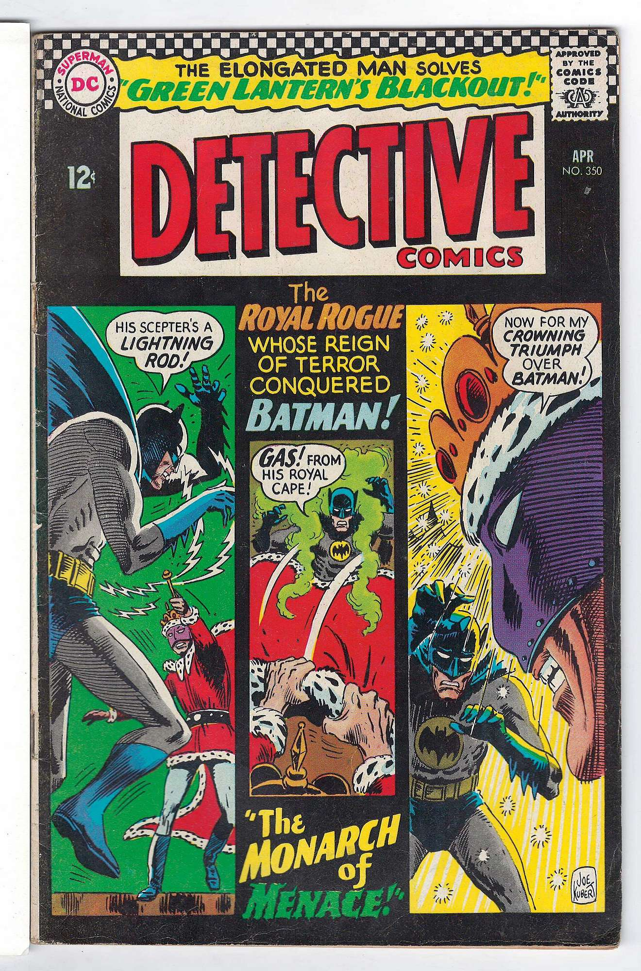 Cover of Detective Comics #350. One of 250,000 Vintage American Comics on sale from Krypton!