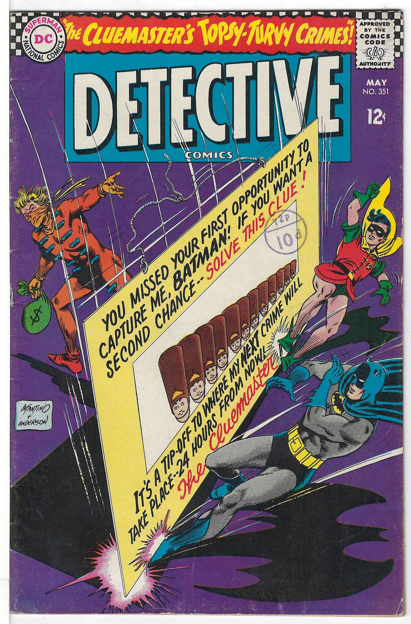 Cover of Detective Comics #351. One of 250,000 Vintage American Comics on sale from Krypton!