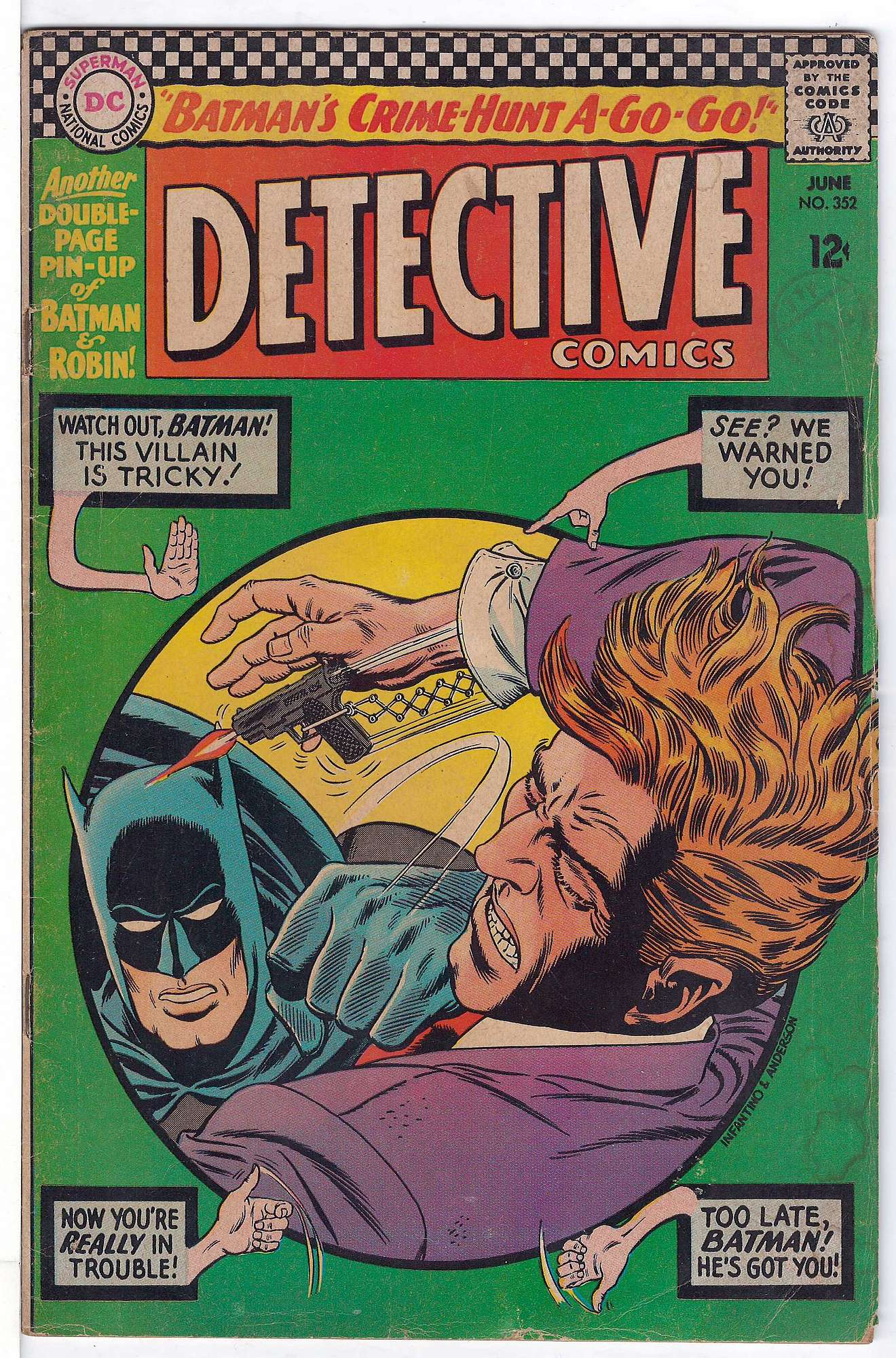 Cover of Detective Comics #352. One of 250,000 Vintage American Comics on sale from Krypton!