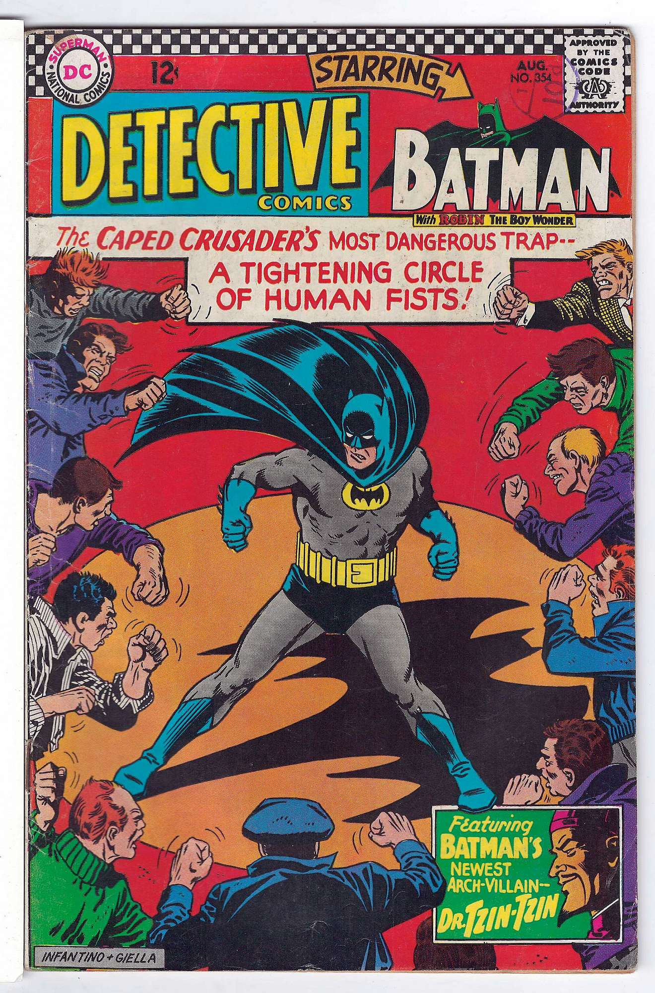 Cover of Detective Comics #354. One of 250,000 Vintage American Comics on sale from Krypton!