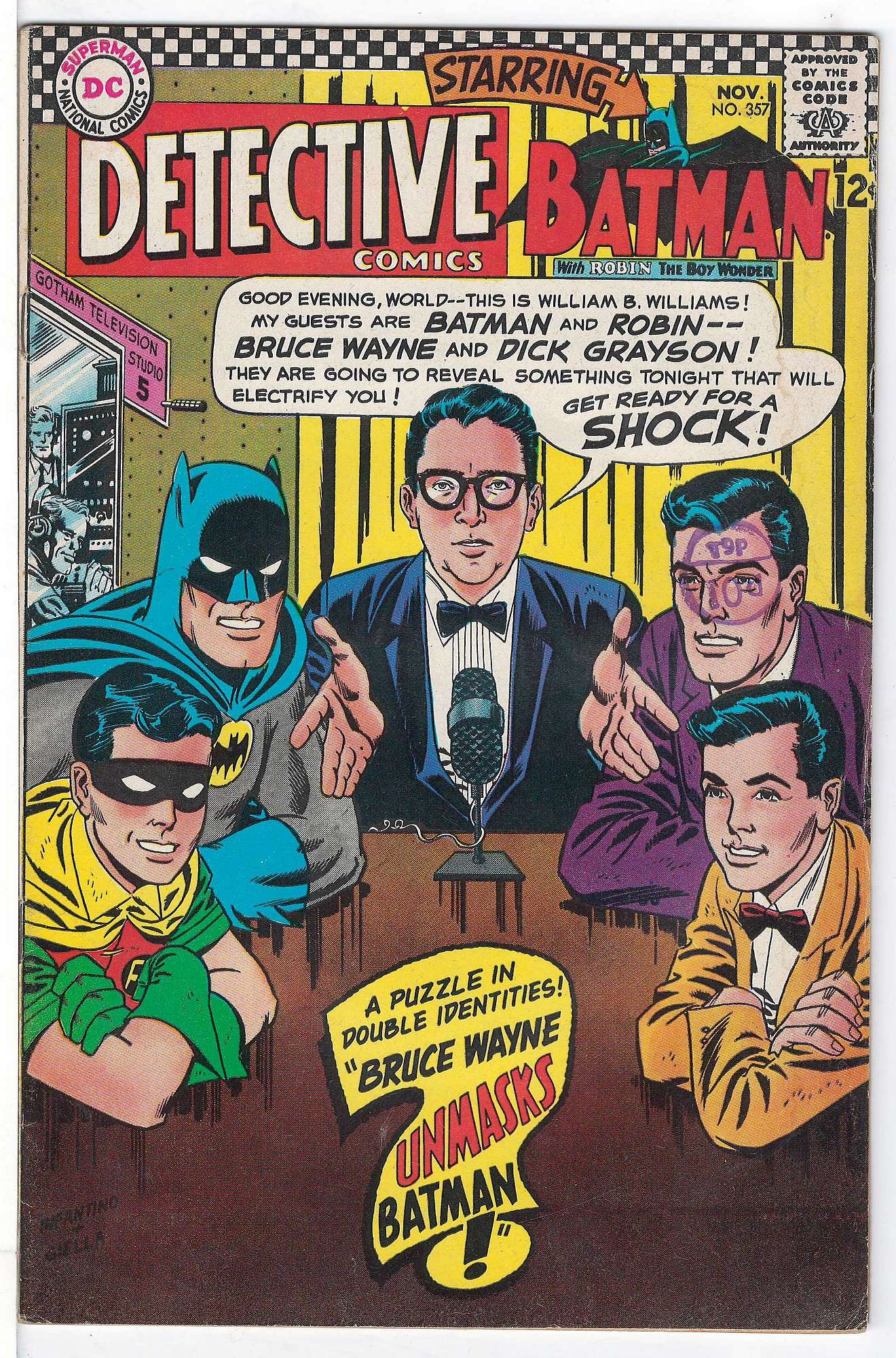 Cover of Detective Comics #357. One of 250,000 Vintage American Comics on sale from Krypton!