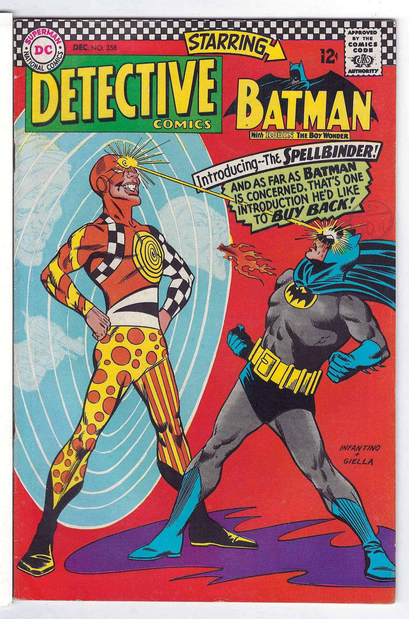 Cover of Detective Comics #358. One of 250,000 Vintage American Comics on sale from Krypton!