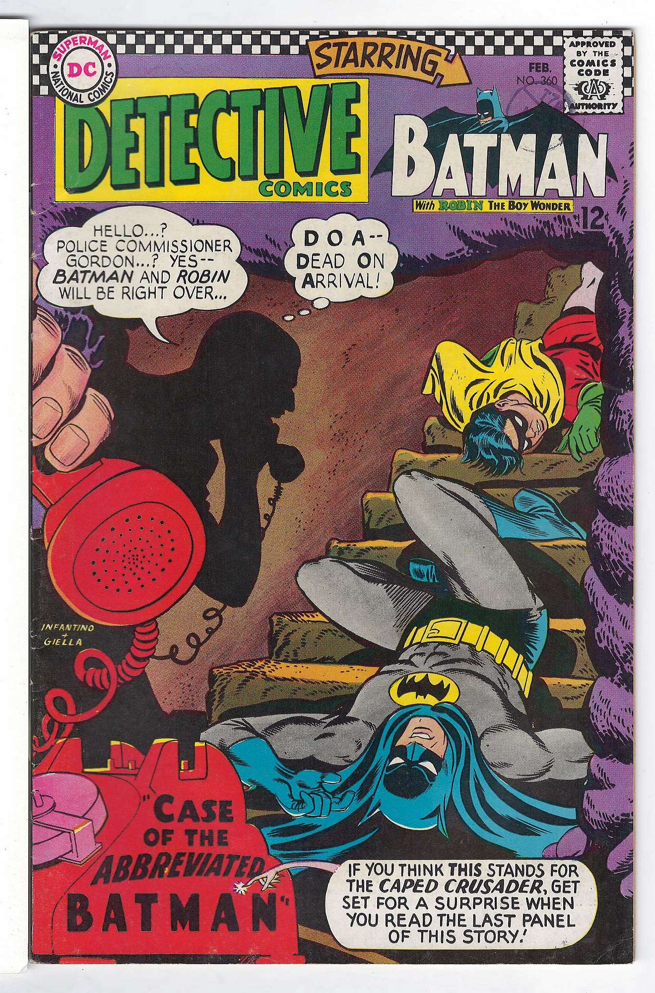 Cover of Detective Comics #360. One of 250,000 Vintage American Comics on sale from Krypton!