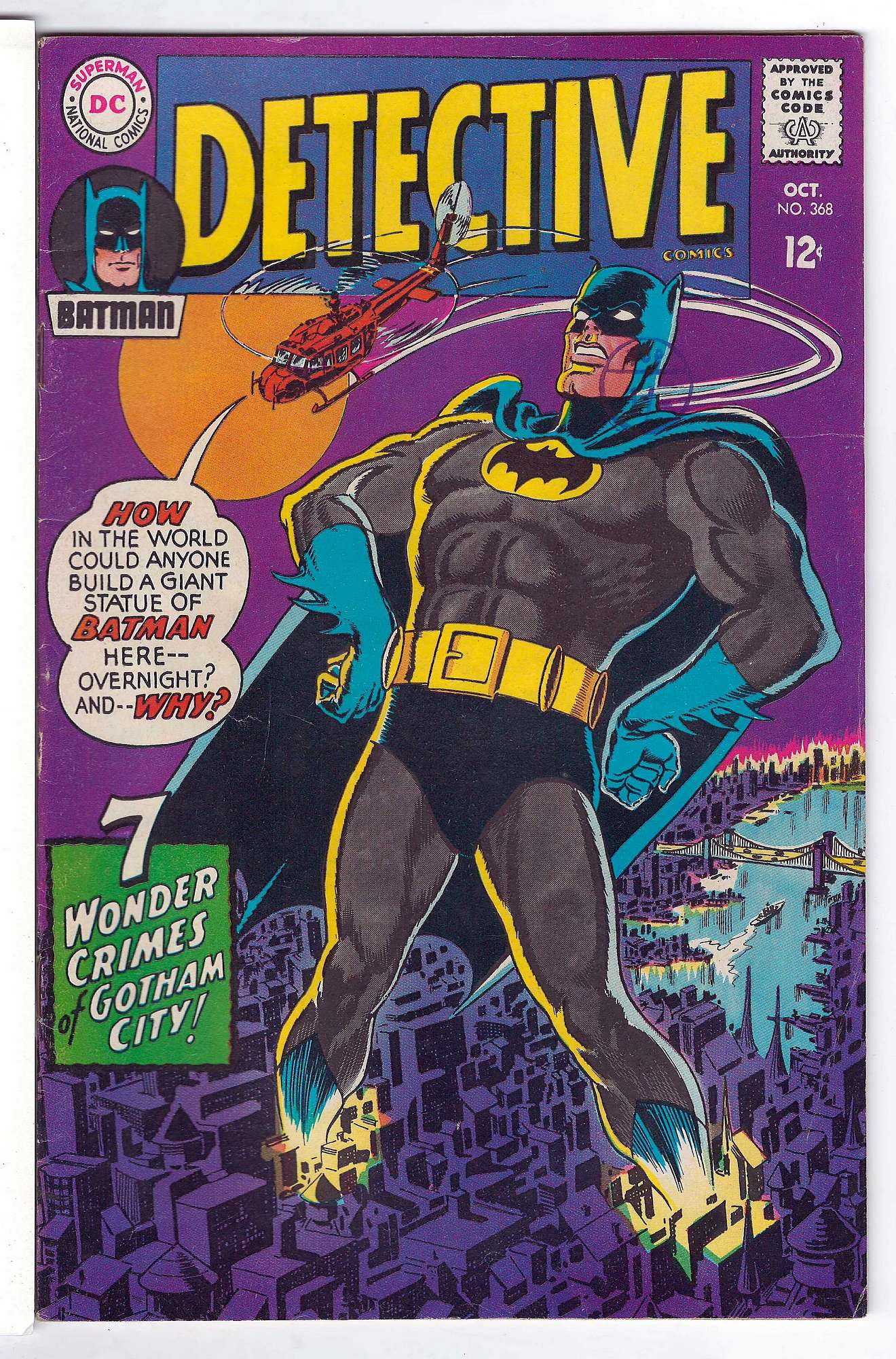 Cover of Detective Comics #368. One of 250,000 Vintage American Comics on sale from Krypton!