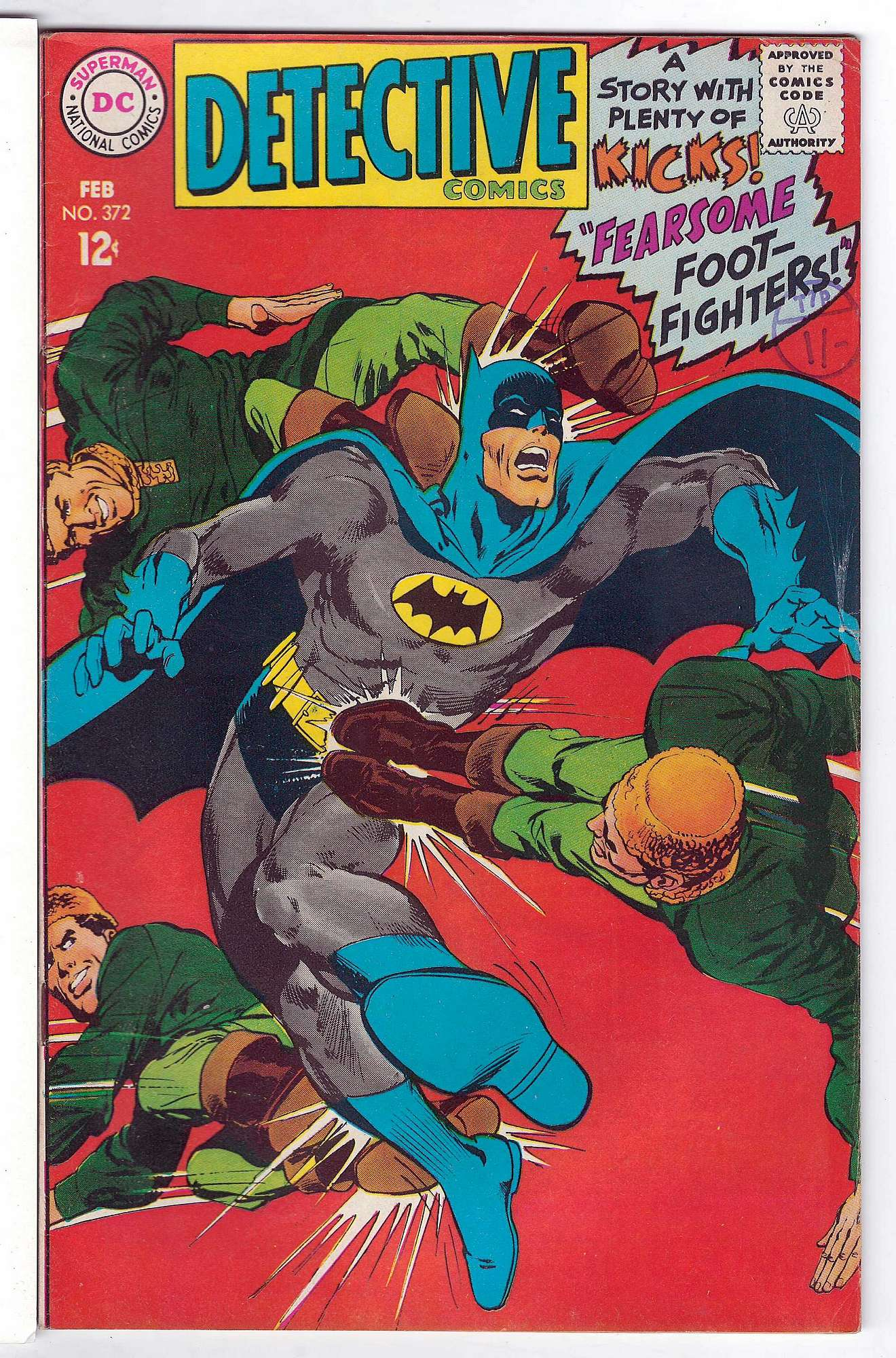 Cover of Detective Comics #372. One of 250,000 Vintage American Comics on sale from Krypton!