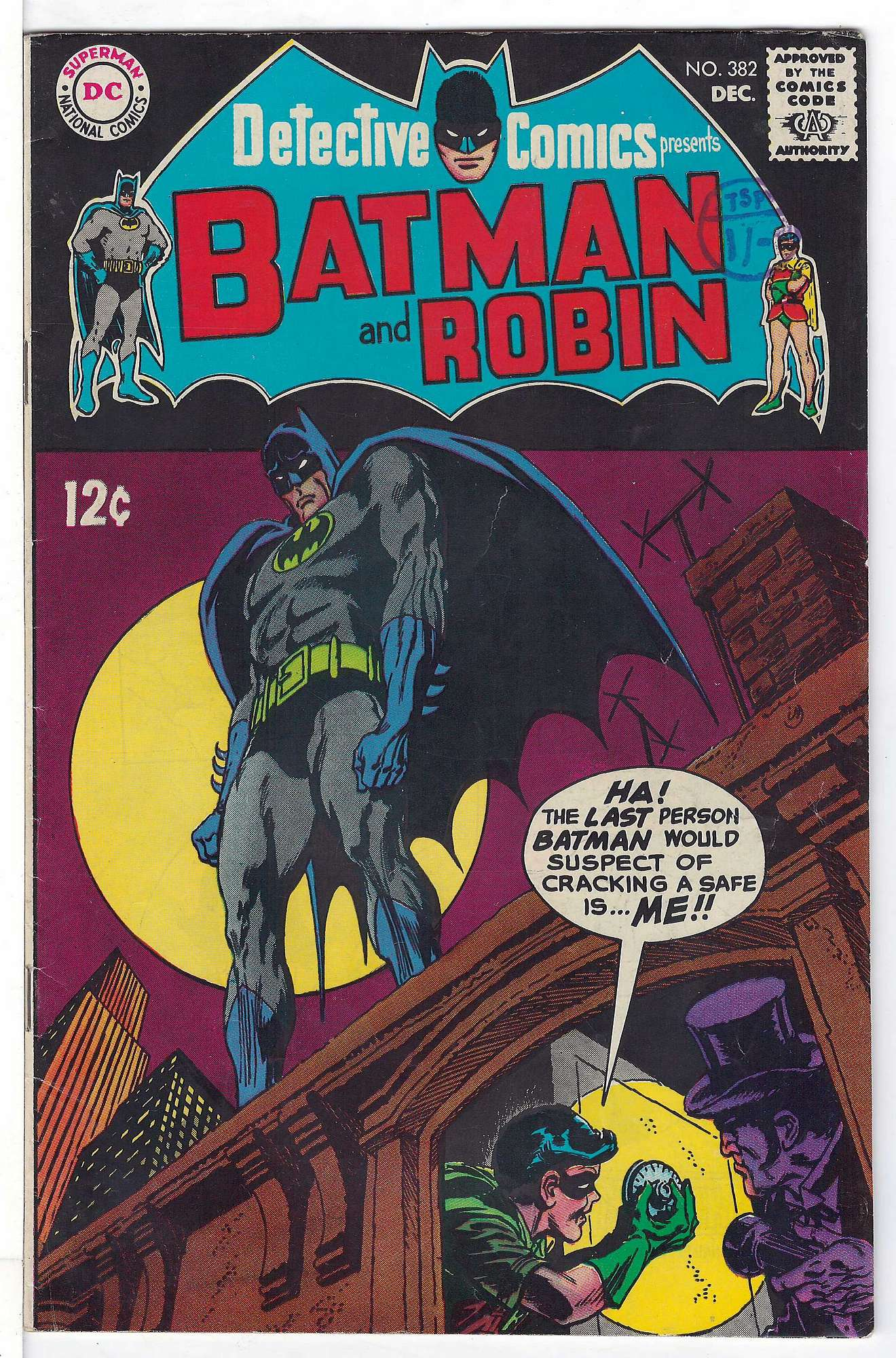 Cover of Detective Comics #382. One of 250,000 Vintage American Comics on sale from Krypton!