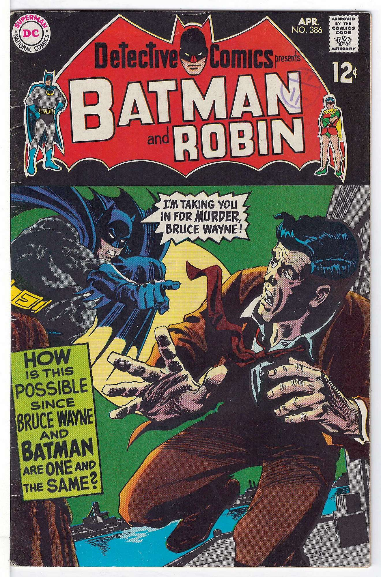 Cover of Detective Comics #386. One of 250,000 Vintage American Comics on sale from Krypton!