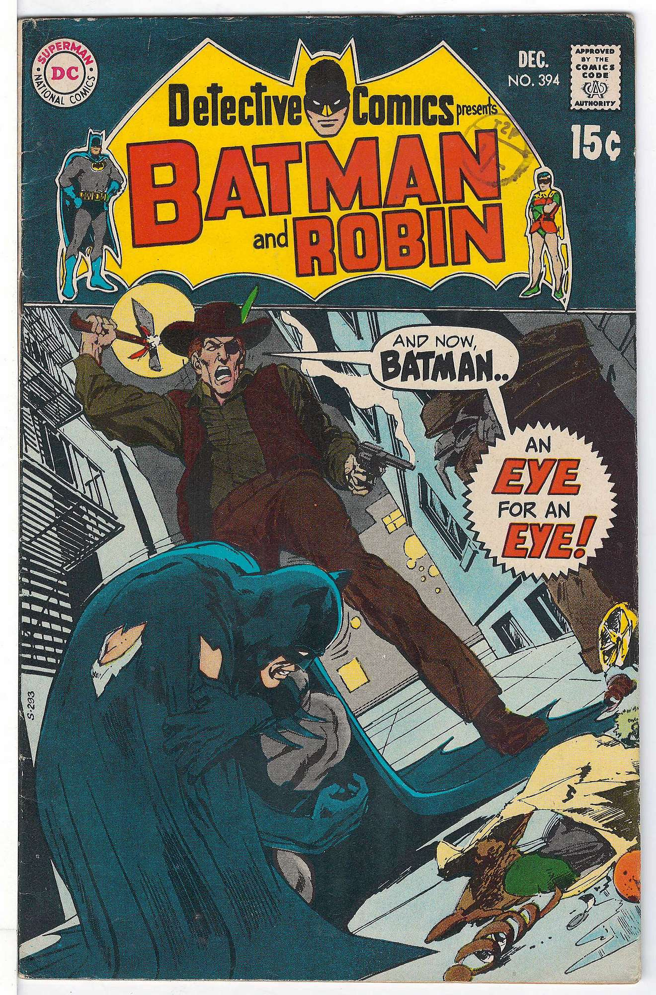 Cover of Detective Comics #394. One of 250,000 Vintage American Comics on sale from Krypton!