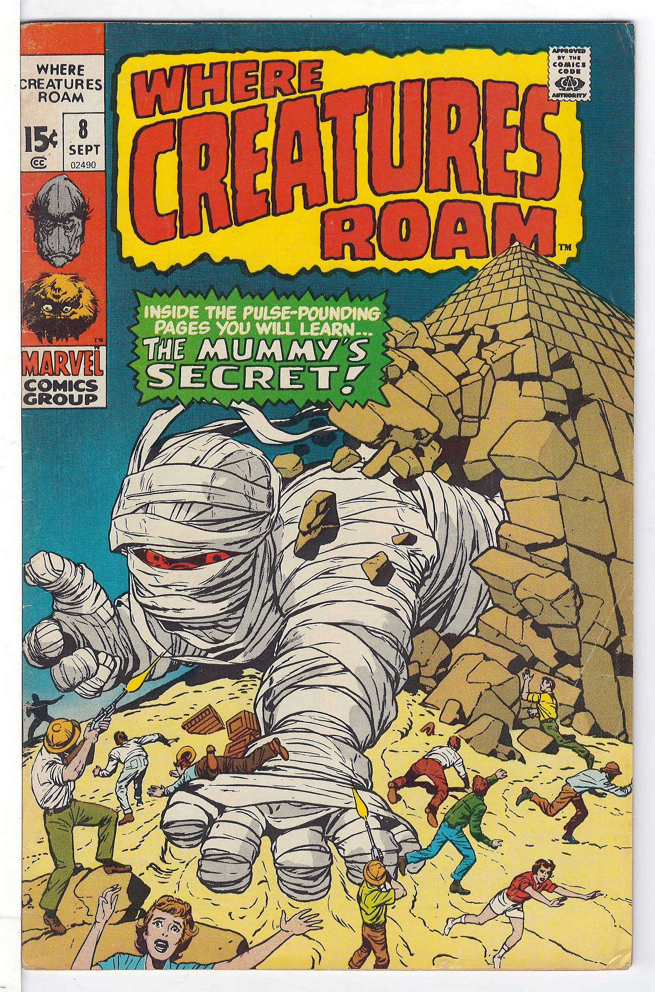Cover of Where Creatures Roam #8. One of 250,000 Vintage American Comics on sale from Krypton!