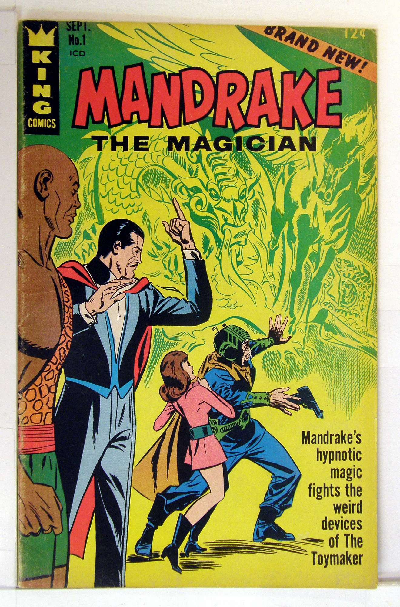 Cover of Mandrake (King Comics) #1. One of 250,000 Vintage American Comics on sale from Krypton!