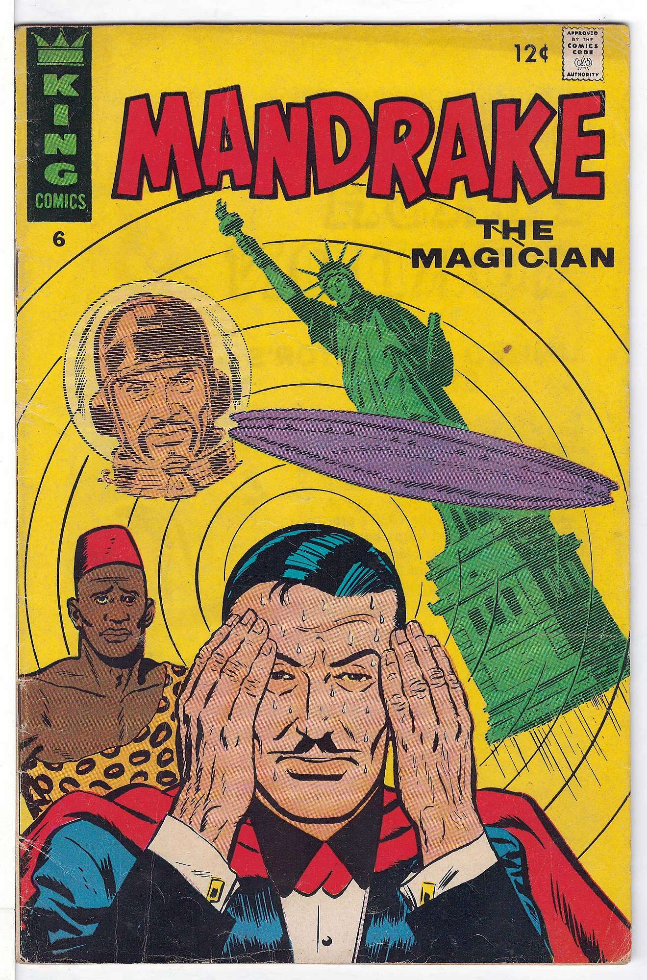 Cover of Mandrake (King Comics) #6. One of 250,000 Vintage American Comics on sale from Krypton!