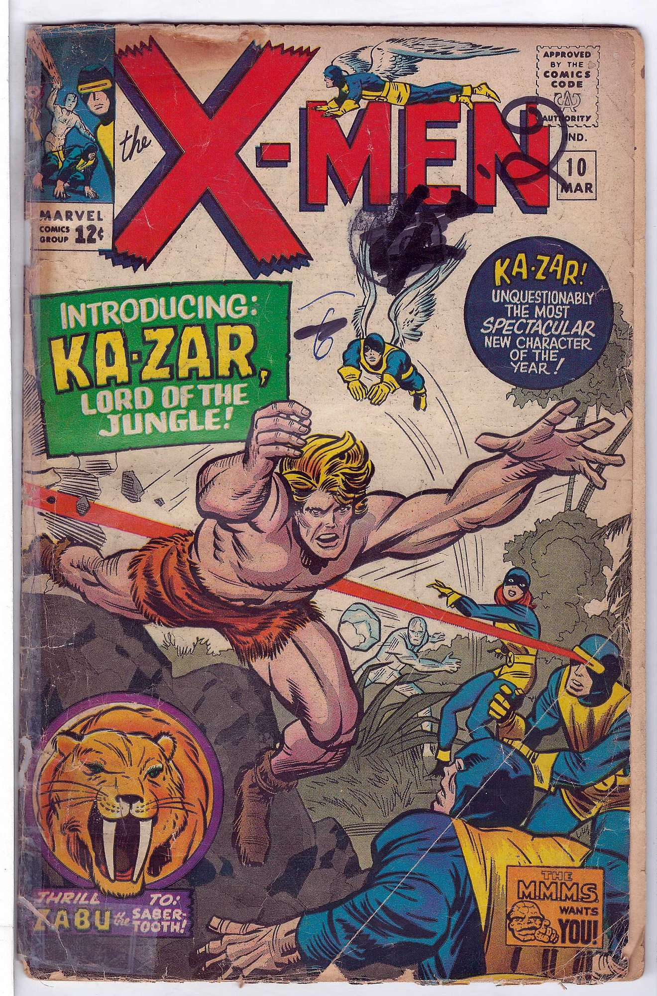 Cover of Uncanny X-Men (Vol 1) #10. One of 250,000 Vintage American Comics on sale from Krypton!